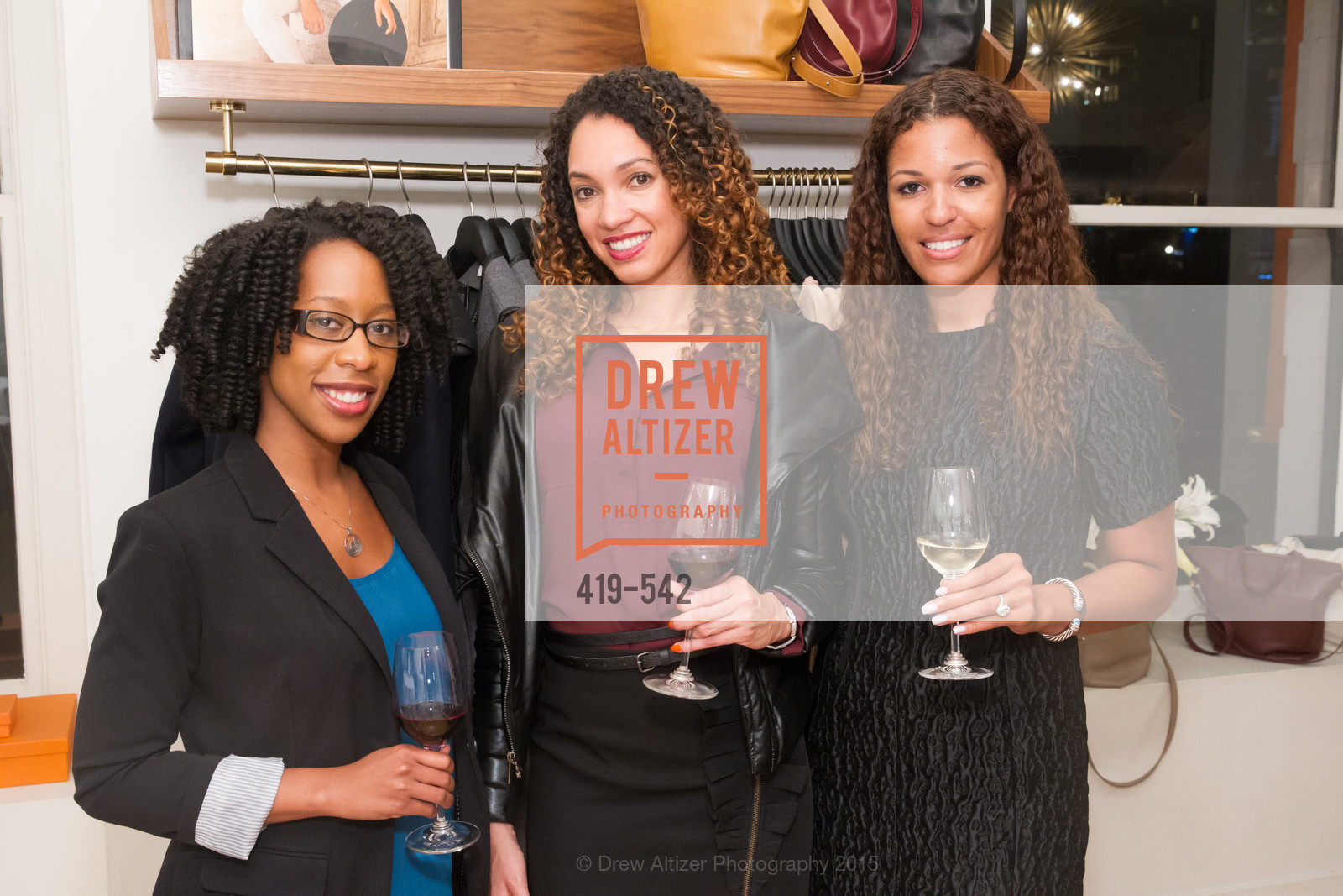 Robyn Cameron, Gina Clayton, Andrea McBride, Cuyana + The McBride Sisters, Cayuna Showroom. 291 Geary Street, 2nd Floor, November 19th, 2015,Drew Altizer, Drew Altizer Photography, full-service agency, private events, San Francisco photographer, photographer california