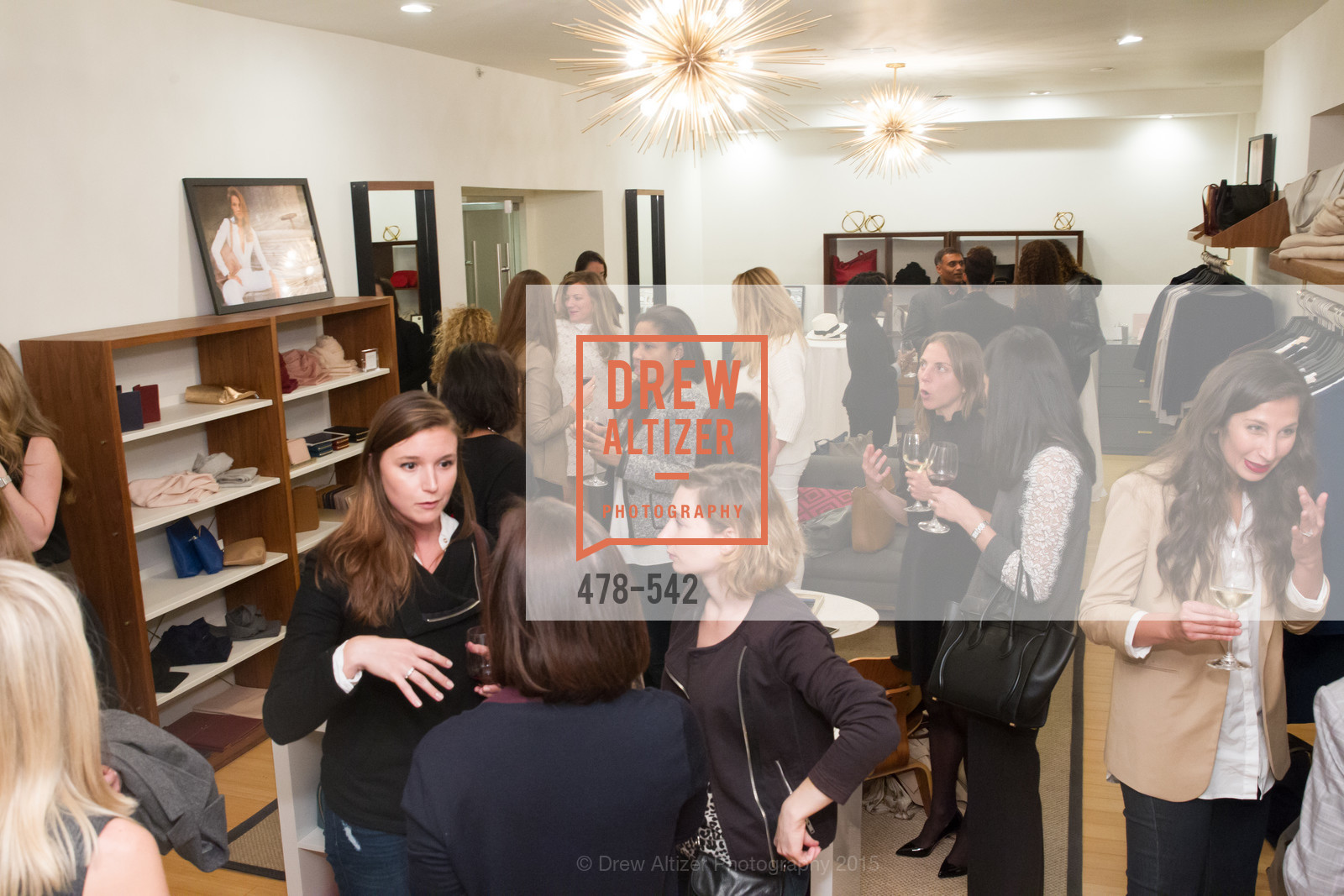Atmosphere, Cuyana + The McBride Sisters, Cayuna Showroom. 291 Geary Street, 2nd Floor, November 19th, 2015,Drew Altizer, Drew Altizer Photography, full-service agency, private events, San Francisco photographer, photographer california