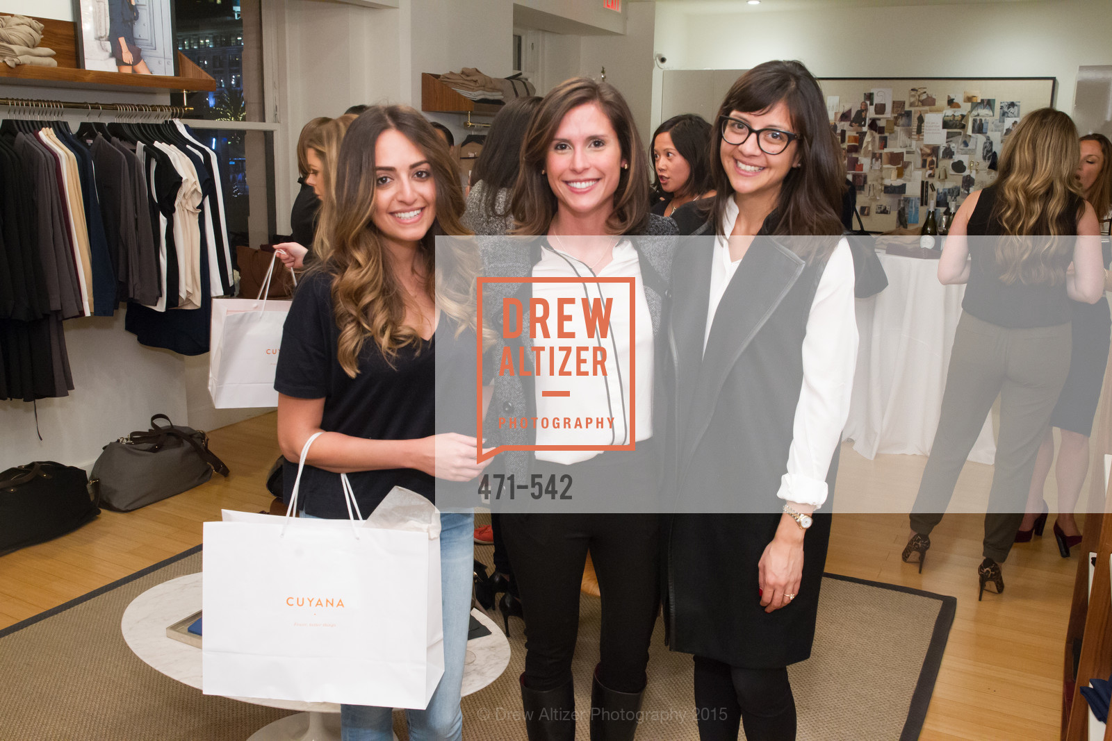Keanna Duvari, Valeese Perez, Karla Gallardo, Cuyana + The McBride Sisters, Cayuna Showroom. 291 Geary Street, 2nd Floor, November 19th, 2015,Drew Altizer, Drew Altizer Photography, full-service agency, private events, San Francisco photographer, photographer california