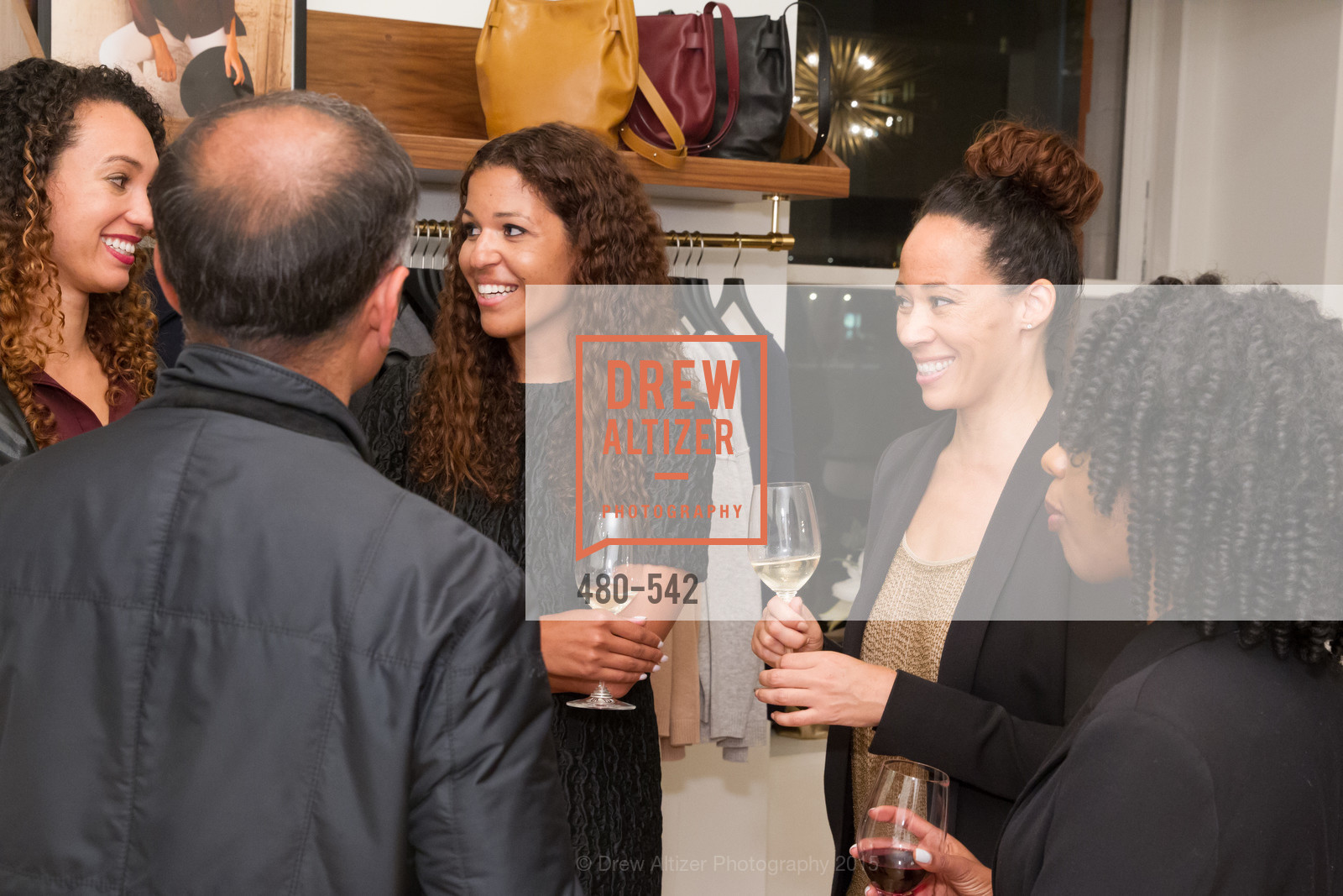 Andrea McBride, Robin McBride, Cuyana + The McBride Sisters, Cayuna Showroom. 291 Geary Street, 2nd Floor, November 19th, 2015,Drew Altizer, Drew Altizer Photography, full-service event agency, private events, San Francisco photographer, photographer California