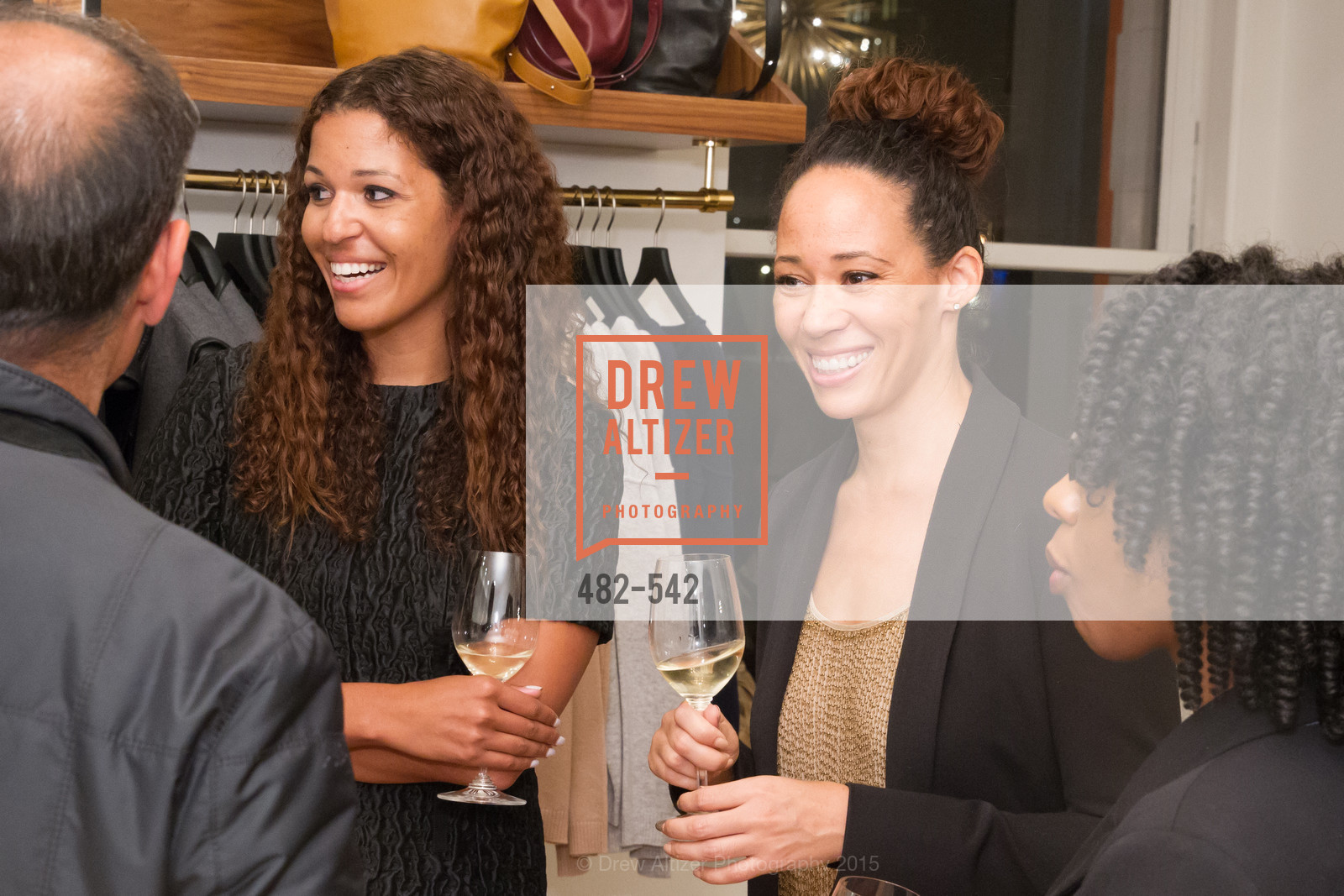 Andrea McBride, Robin McBride, Cuyana + The McBride Sisters, Cayuna Showroom. 291 Geary Street, 2nd Floor, November 19th, 2015,Drew Altizer, Drew Altizer Photography, full-service agency, private events, San Francisco photographer, photographer california