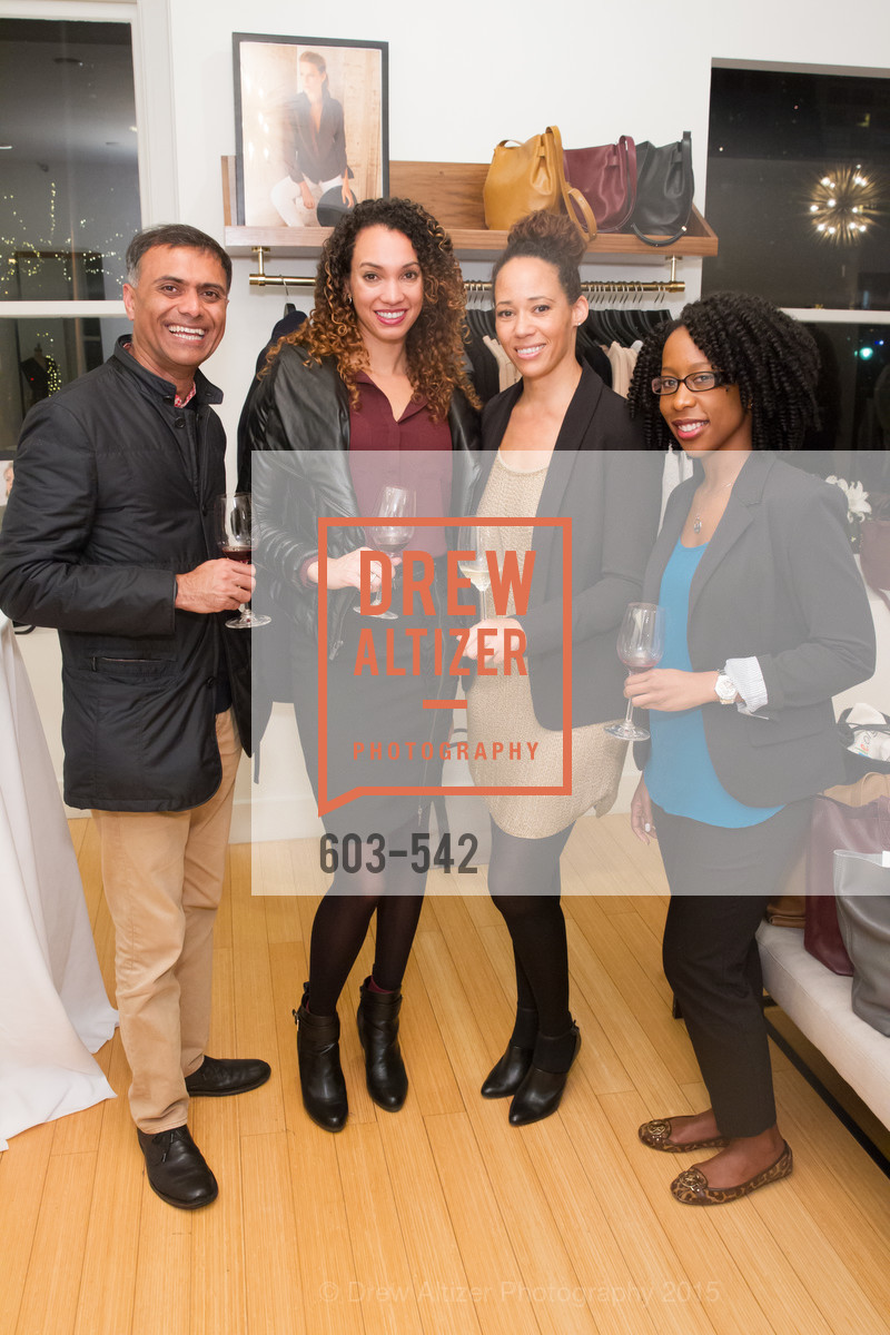 Keval Desai, Gina Clayton, Robin McBride, Robyn Cameron, Cuyana + The McBride Sisters, Cayuna Showroom. 291 Geary Street, 2nd Floor, November 19th, 2015,Drew Altizer, Drew Altizer Photography, full-service agency, private events, San Francisco photographer, photographer california