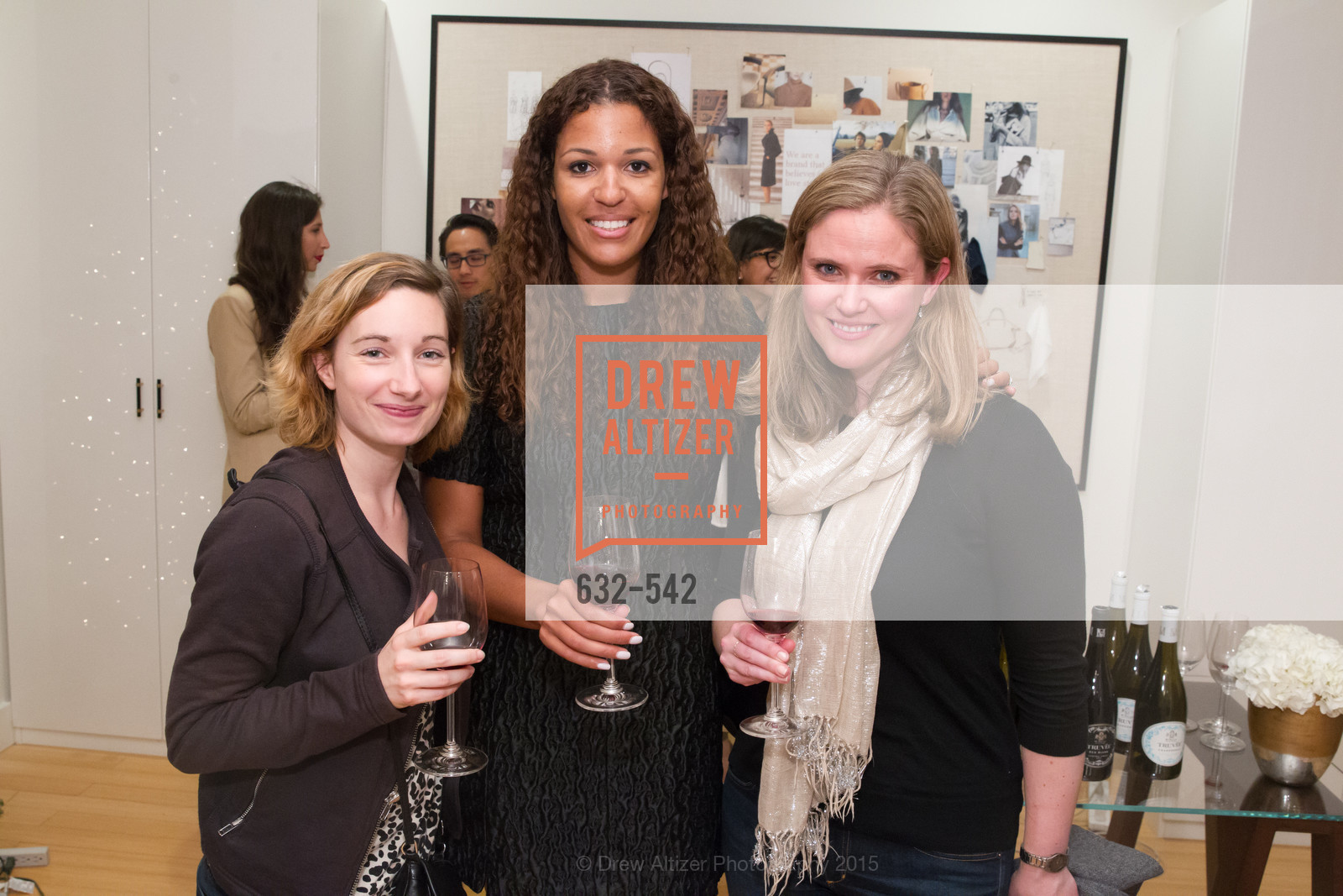Nora Pojie, Andrea McBride, Evalee Milme, Cuyana + The McBride Sisters, Cayuna Showroom. 291 Geary Street, 2nd Floor, November 19th, 2015,Drew Altizer, Drew Altizer Photography, full-service event agency, private events, San Francisco photographer, photographer California