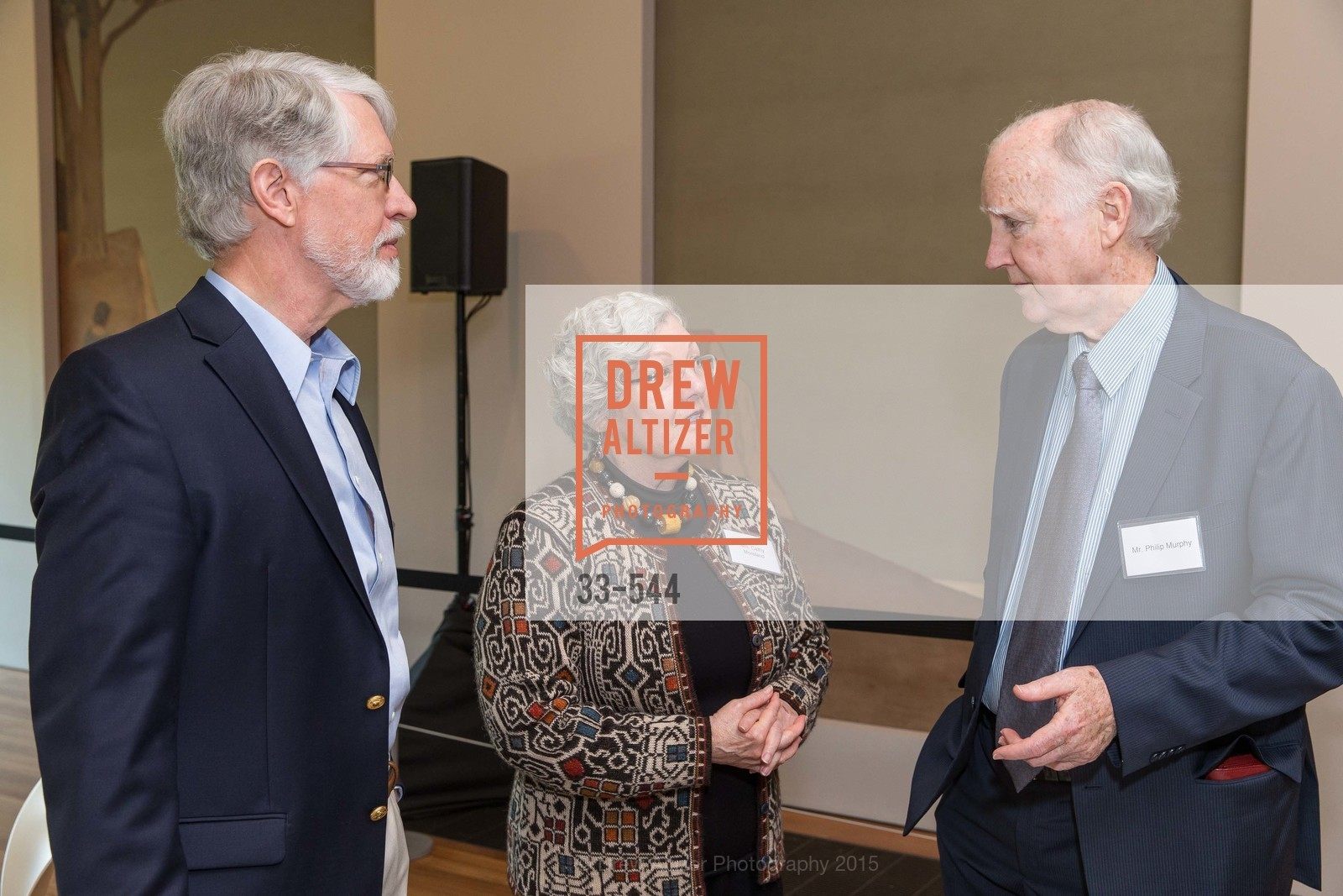 Howard Moreland, Cathy Moreland, Philip Murphy, FAMSF hosts the Legacy Tea Reception, de Young Museum, November 17th, 2015,Drew Altizer, Drew Altizer Photography, full-service agency, private events, San Francisco photographer, photographer california