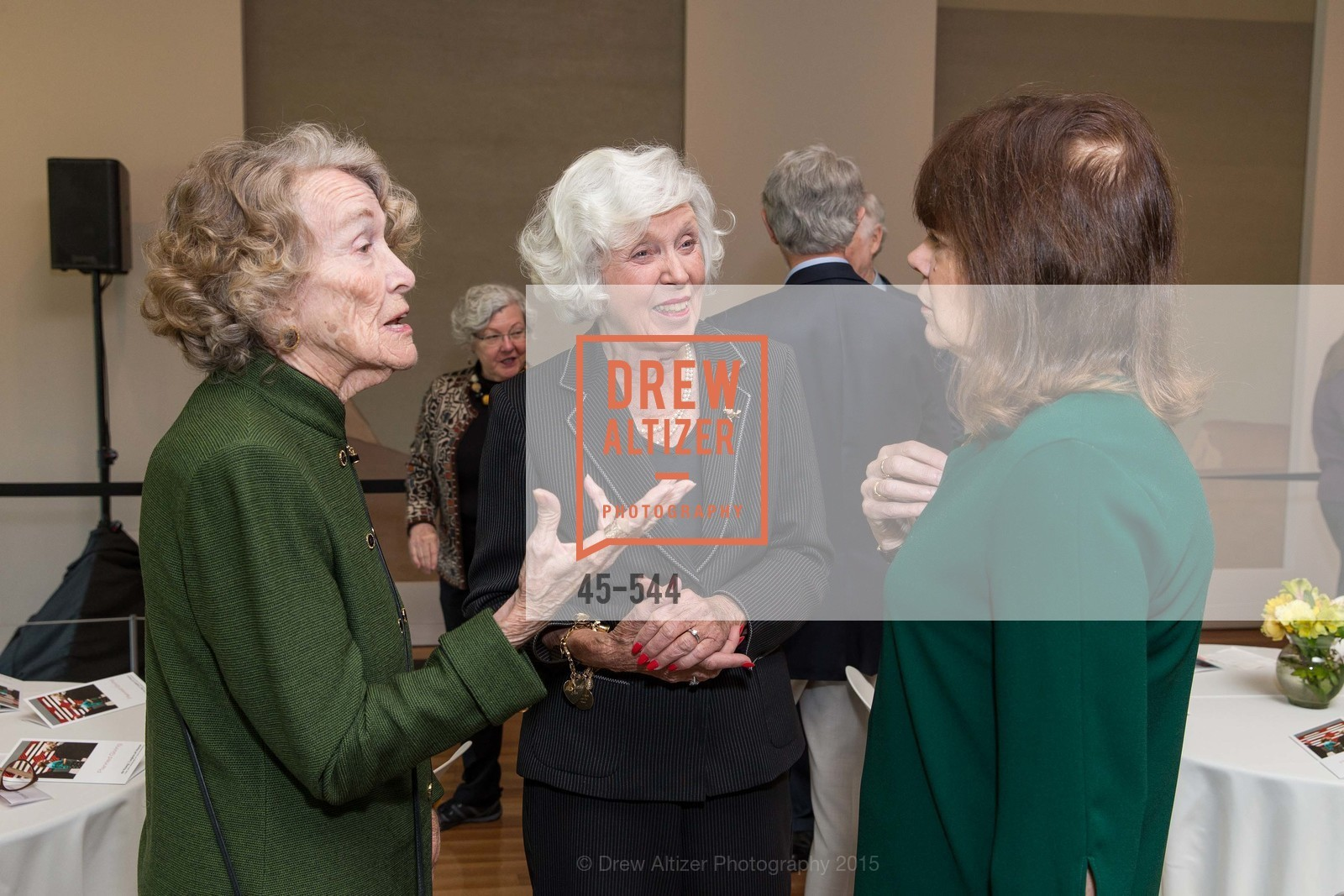 Teresa Middleton, Katherine Wallin, Pam Earing, FAMSF hosts the Legacy Tea Reception, de Young Museum, November 17th, 2015,Drew Altizer, Drew Altizer Photography, full-service agency, private events, San Francisco photographer, photographer california
