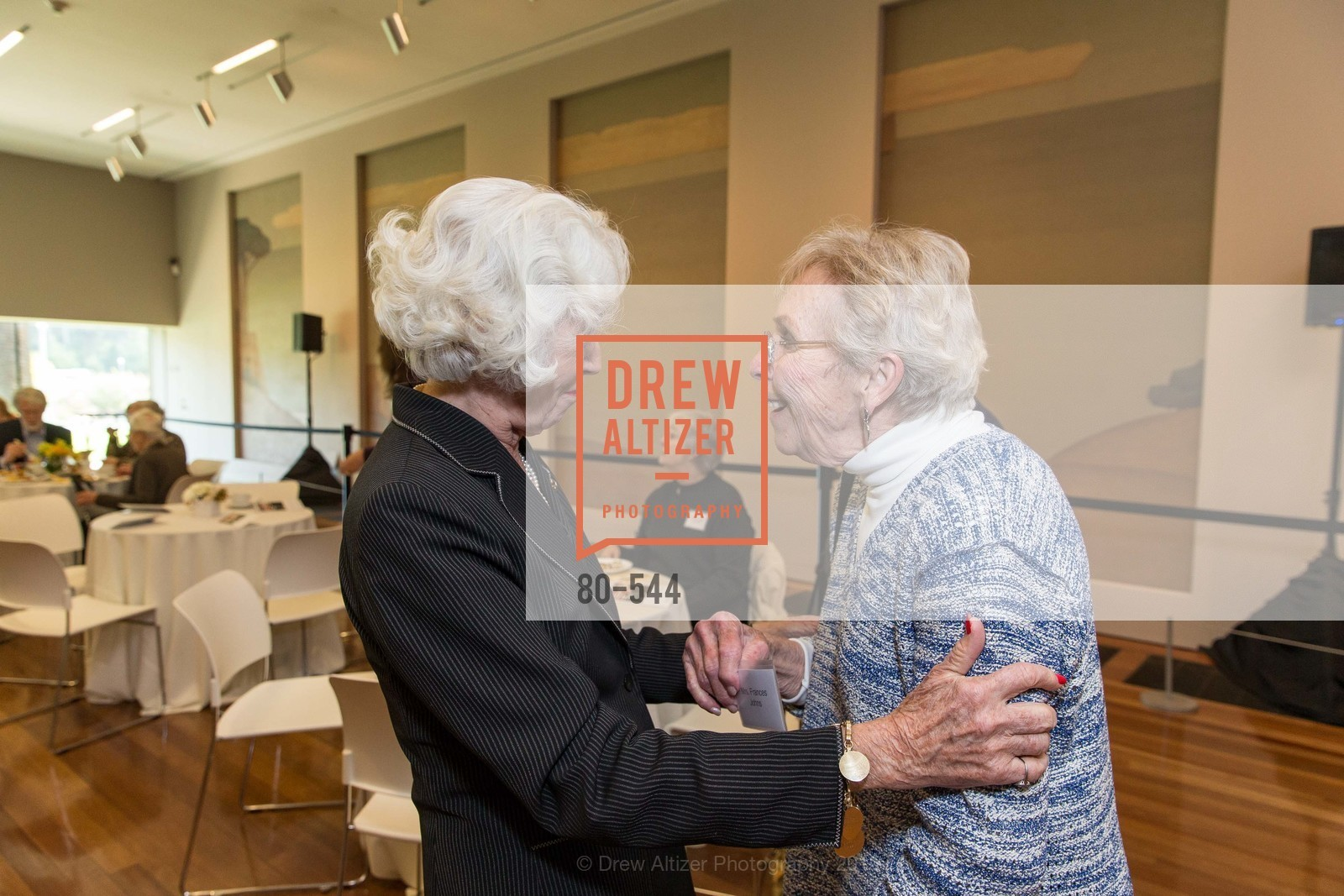Katherine Wallin, Fran Johns, FAMSF hosts the Legacy Tea Reception, de Young Museum, November 17th, 2015