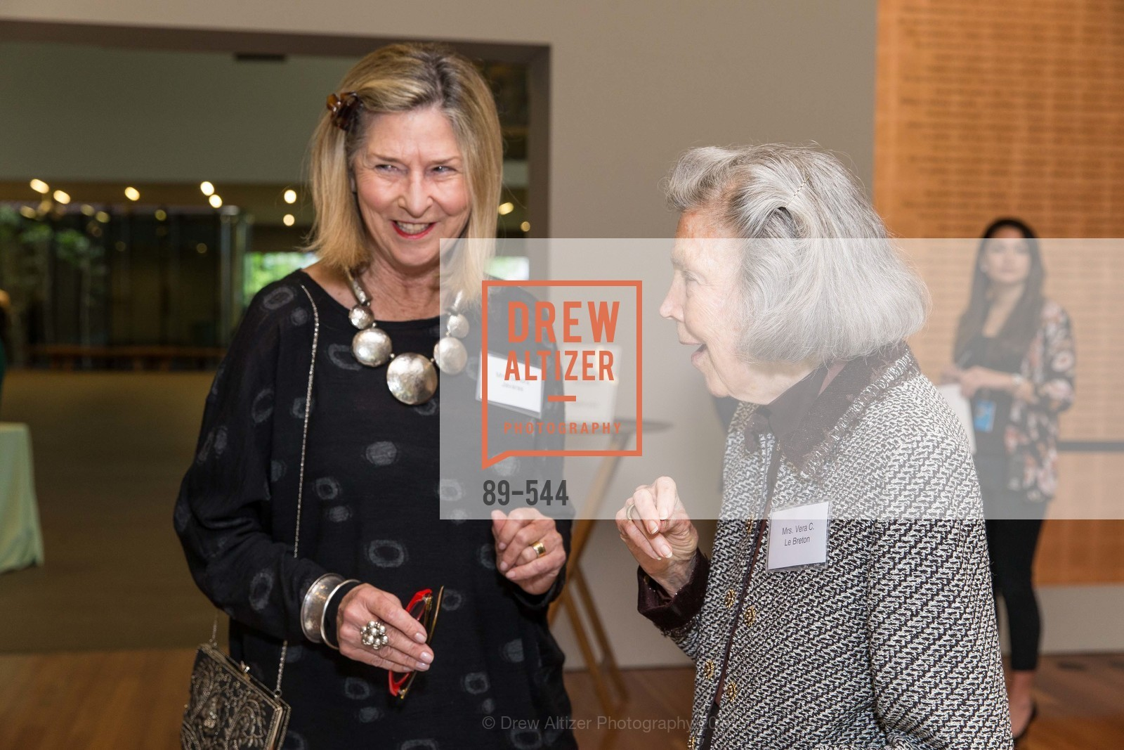Vera LeBreton, FAMSF hosts the Legacy Tea Reception, de Young Museum, November 17th, 2015