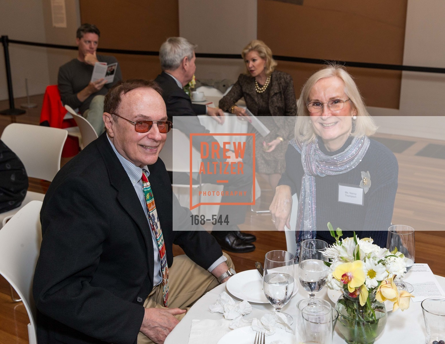 William Eddelman, Nancy Thompson, FAMSF hosts the Legacy Tea Reception, de Young Museum, November 17th, 2015,Drew Altizer, Drew Altizer Photography, full-service agency, private events, San Francisco photographer, photographer california