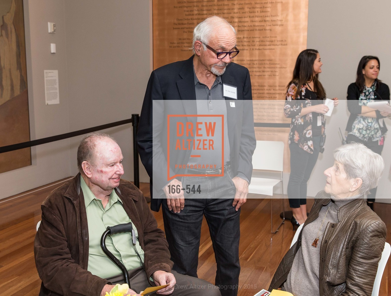 Frank Heffeman, Nick Javaras, Lenore Heffeman, FAMSF hosts the Legacy Tea Reception, de Young Museum, November 17th, 2015,Drew Altizer, Drew Altizer Photography, full-service agency, private events, San Francisco photographer, photographer california