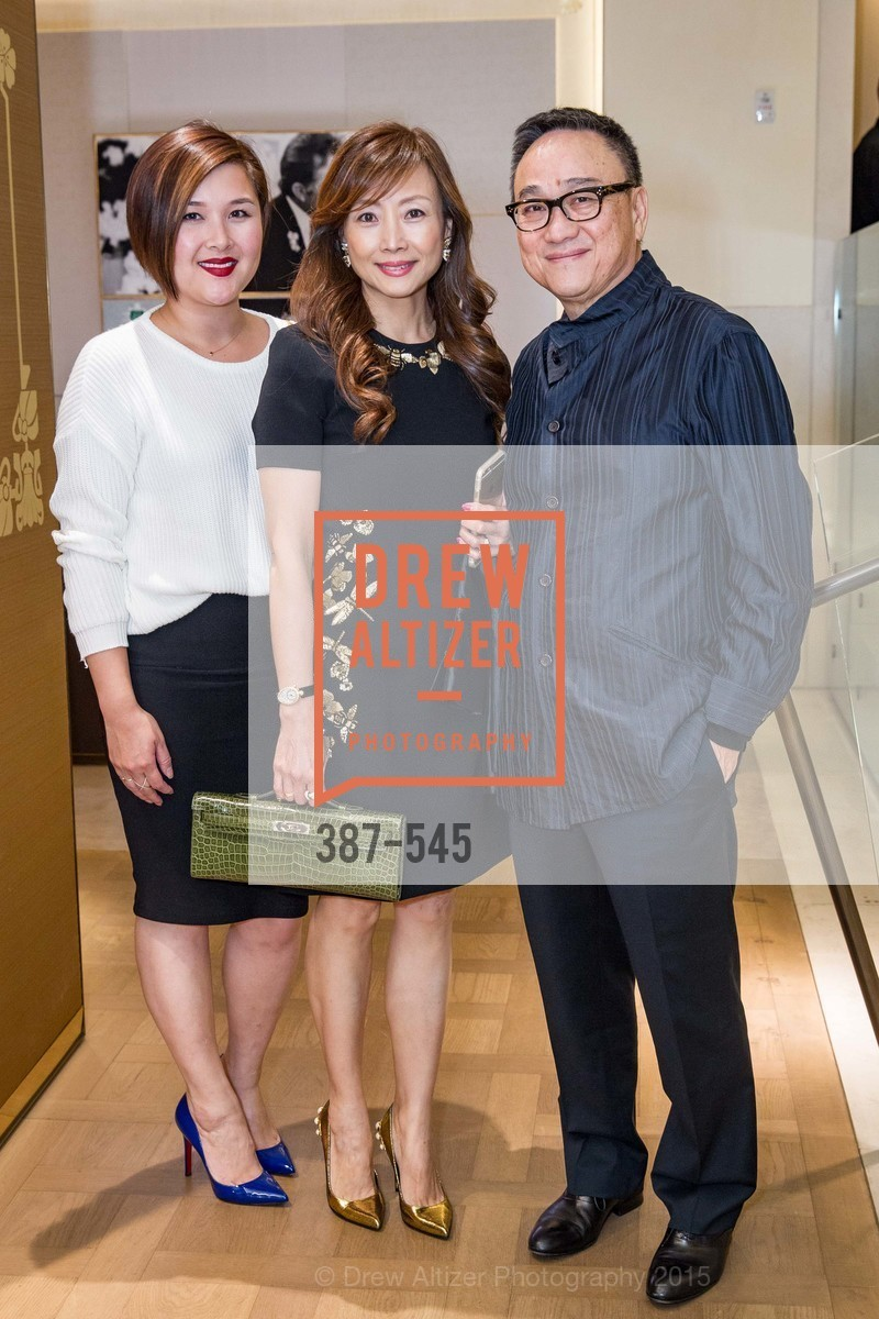 Sharon Li, Janet Yu, Francis Wong, Bulgari Presents B.Cocktail, Bulgari. 200 Stockton Street, November 17th, 2015,Drew Altizer, Drew Altizer Photography, full-service agency, private events, San Francisco photographer, photographer california