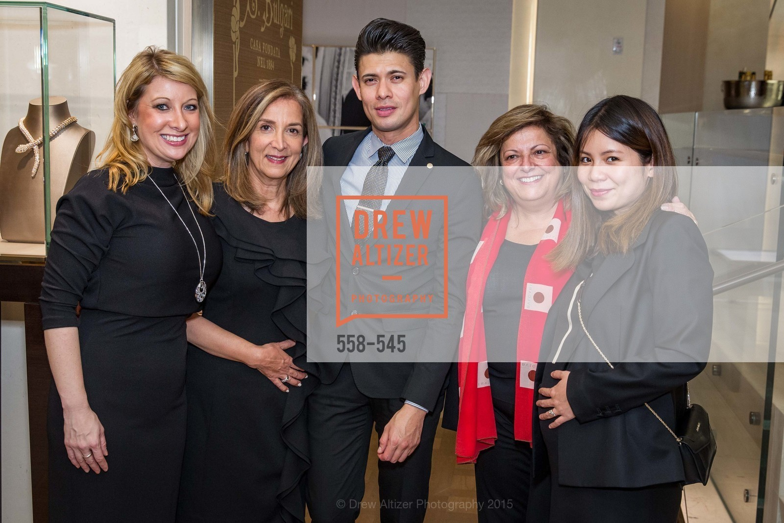 Jennifer Mancuso, Alvaro Ibara, Laura Albini, Hoi Lam, Bulgari Presents B.Cocktail, Bulgari. 200 Stockton Street, November 17th, 2015,Drew Altizer, Drew Altizer Photography, full-service agency, private events, San Francisco photographer, photographer california