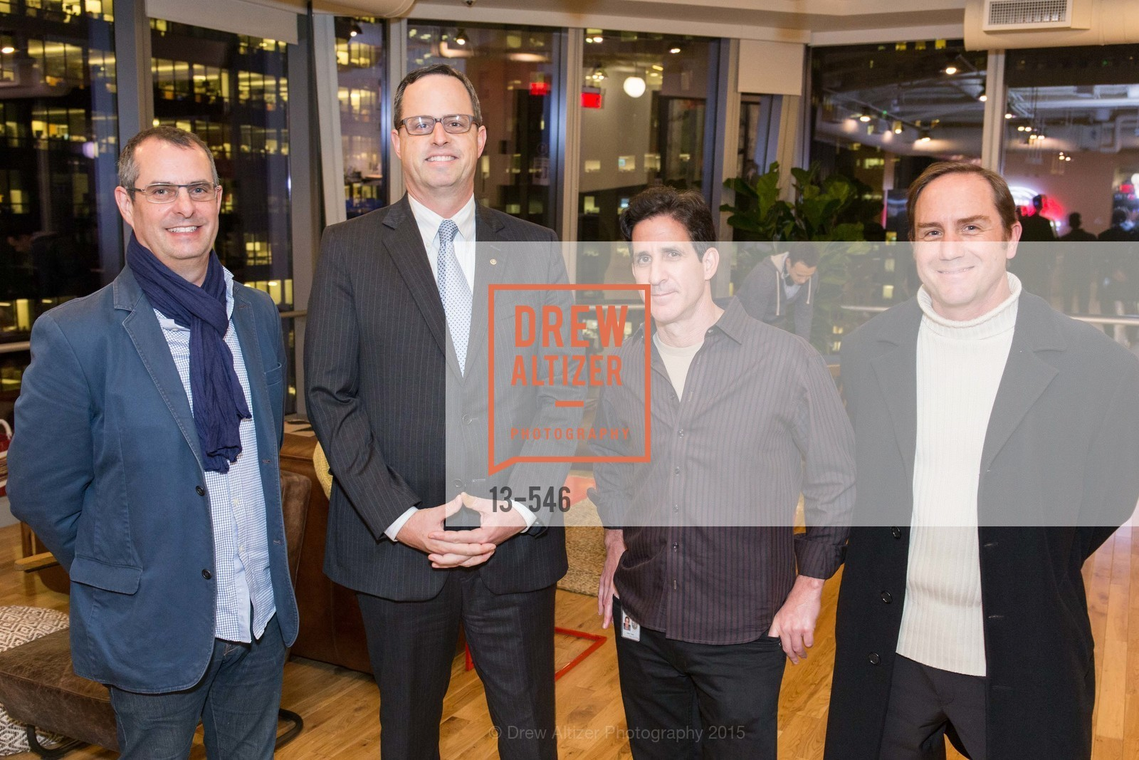 Mark Dziewulski, Justin Bank, Adam Taylor, Jonas Judd, San Francisco Ballet ENCORE! Season Preview Party, WeWork. 535 Mission Street, 14th Floor, November 17th, 2015,Drew Altizer, Drew Altizer Photography, full-service agency, private events, San Francisco photographer, photographer california