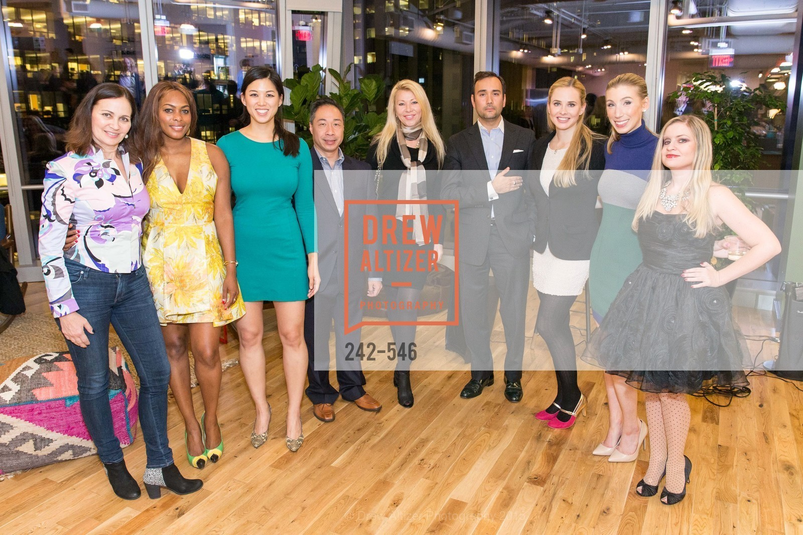 Jane Burkhard, Vanessa Jean-Baptiste, Emily Hu, Wilson Yan, Lena Gikkas, Chris Correa, Elizabeth Sgarrella, Maggie Winterfeldt Clark, Julie Hall, San Francisco Ballet ENCORE! Season Preview Party, WeWork. 535 Mission Street, 14th Floor, November 17th, 2015,Drew Altizer, Drew Altizer Photography, full-service agency, private events, San Francisco photographer, photographer california