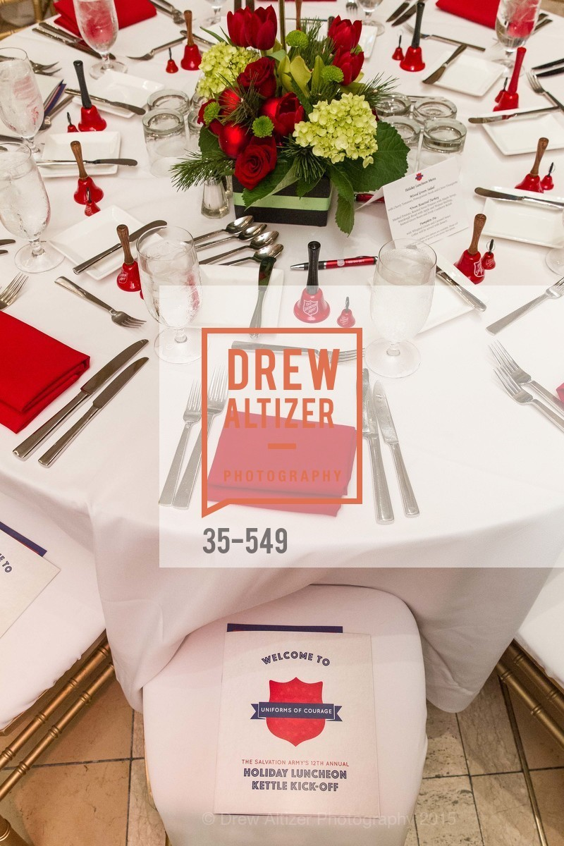 Atmosphere, The Salvation Army's 12th Annual Holiday Luncheon Kettle Kickoff, The Bently Reserve. 301 Battery St, November 18th, 2015,Drew Altizer, Drew Altizer Photography, full-service agency, private events, San Francisco photographer, photographer california