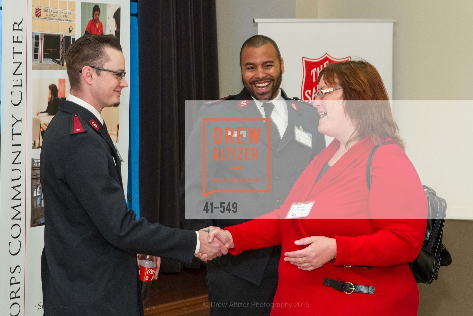Lt. Dustin Rowe, Rachel Fontenot, The Salvation Army's 12th Annual Holiday Luncheon Kettle Kickoff, The Bently Reserve. 301 Battery St, November 18th, 2015,Drew Altizer, Drew Altizer Photography, full-service agency, private events, San Francisco photographer, photographer california