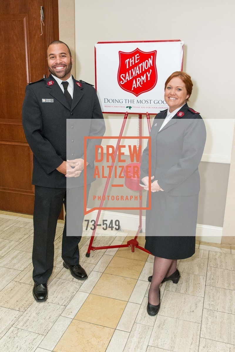 Lt. Dustin Rowe, Lt. Caroline Rowe, The Salvation Army's 12th Annual Holiday Luncheon Kettle Kickoff, The Bently Reserve. 301 Battery St, November 18th, 2015,Drew Altizer, Drew Altizer Photography, full-service agency, private events, San Francisco photographer, photographer california