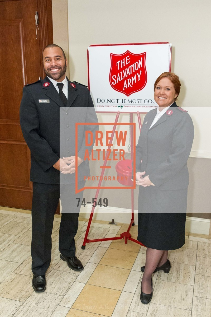 Lt. Dustin Rowe, Lt. Caroline Rowe, The Salvation Army's 12th Annual Holiday Luncheon Kettle Kickoff, The Bently Reserve. 301 Battery St, November 18th, 2015,Drew Altizer, Drew Altizer Photography, full-service event agency, private events, San Francisco photographer, photographer California