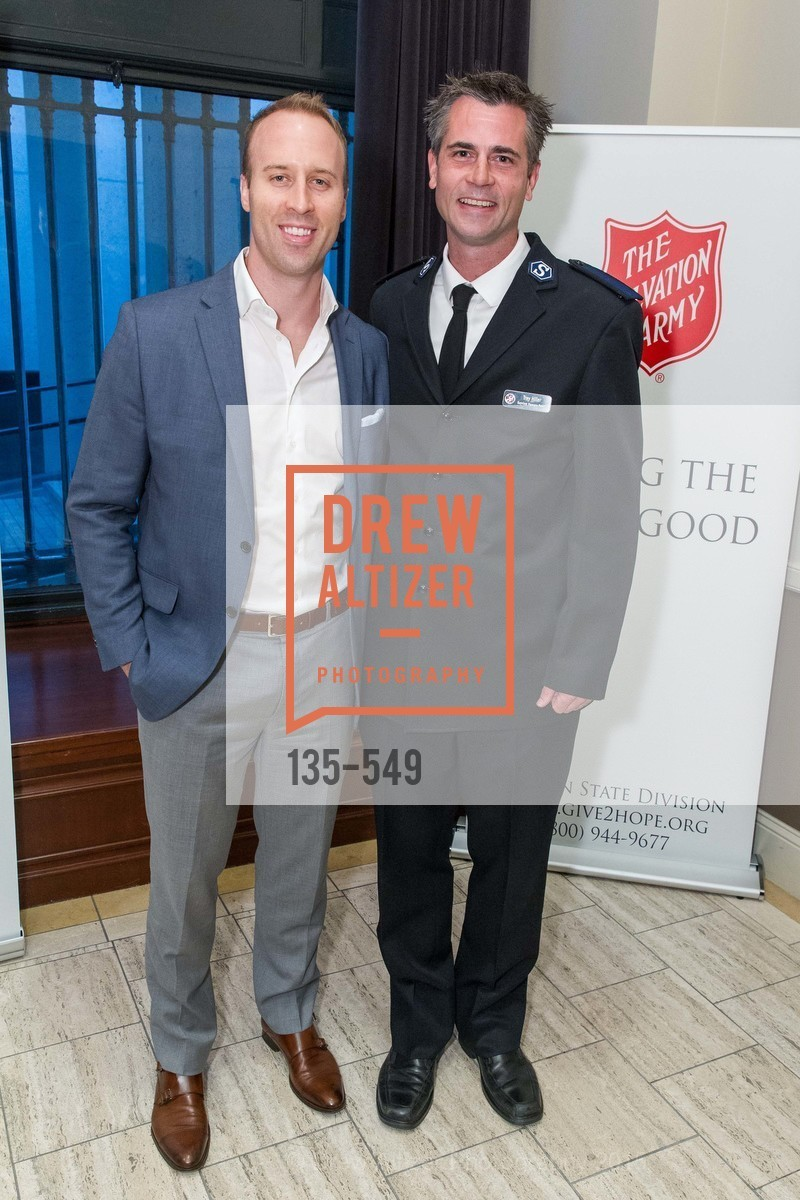 Tyler Brasfield, Trey Hiller, The Salvation Army's 12th Annual Holiday Luncheon Kettle Kickoff, The Bently Reserve. 301 Battery St, November 18th, 2015,Drew Altizer, Drew Altizer Photography, full-service agency, private events, San Francisco photographer, photographer california