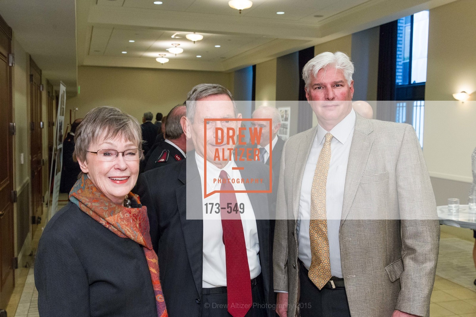 Mary Beth Starzal, Bob Starzal, Kent Eff, The Salvation Army's 12th Annual Holiday Luncheon Kettle Kickoff, The Bently Reserve. 301 Battery St, November 18th, 2015,Drew Altizer, Drew Altizer Photography, full-service agency, private events, San Francisco photographer, photographer california