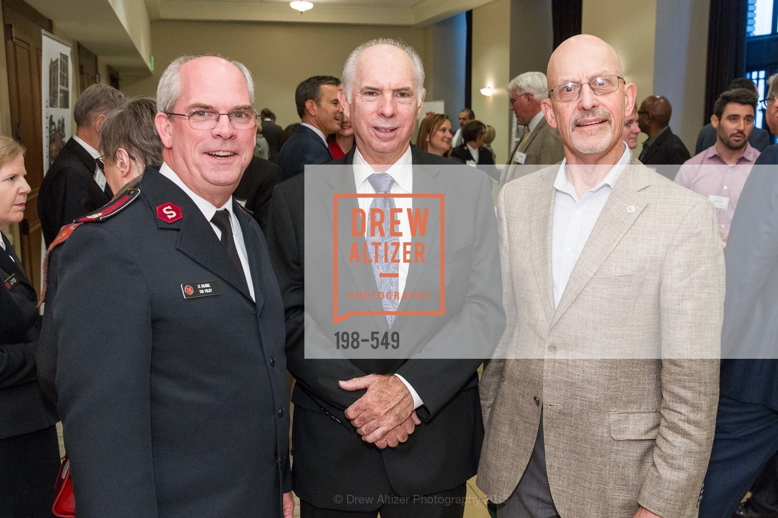 Lt. Col. Tim Foley, Dennis Murphy, James Eyres, The Salvation Army's 12th Annual Holiday Luncheon Kettle Kickoff, The Bently Reserve. 301 Battery St, November 18th, 2015,Drew Altizer, Drew Altizer Photography, full-service agency, private events, San Francisco photographer, photographer california