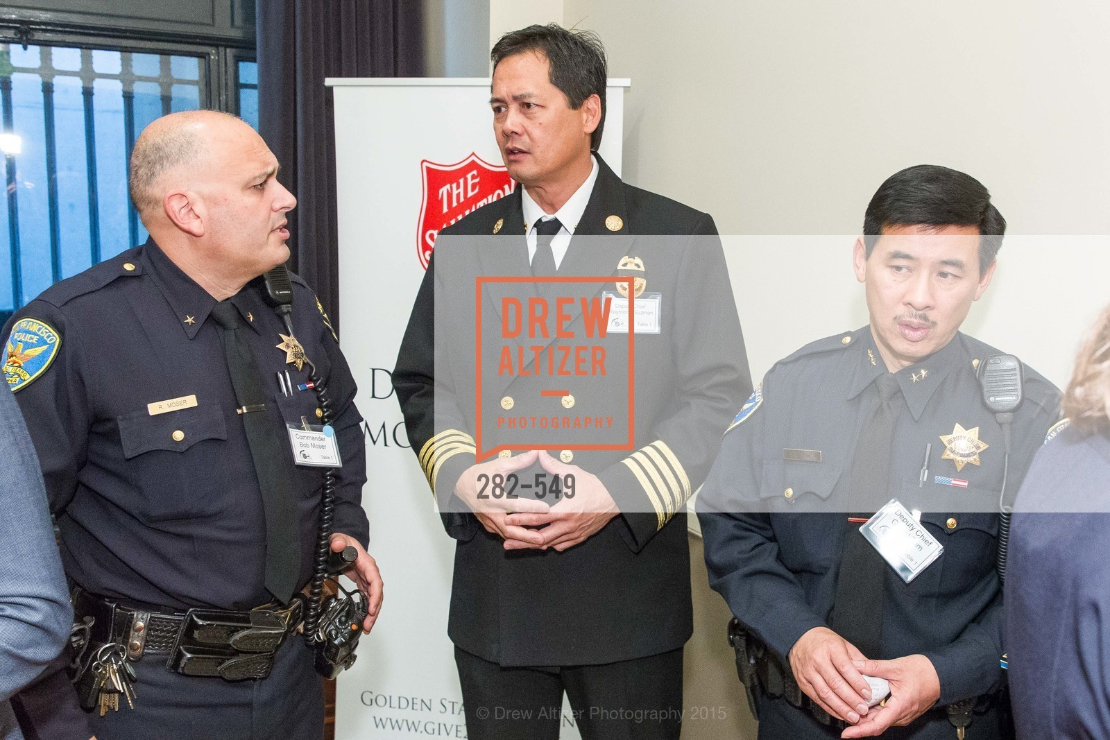 Bob Moser, Raymond Guzman, Garret Tom, The Salvation Army's 12th Annual Holiday Luncheon Kettle Kickoff, The Bently Reserve. 301 Battery St, November 18th, 2015,Drew Altizer, Drew Altizer Photography, full-service agency, private events, San Francisco photographer, photographer california