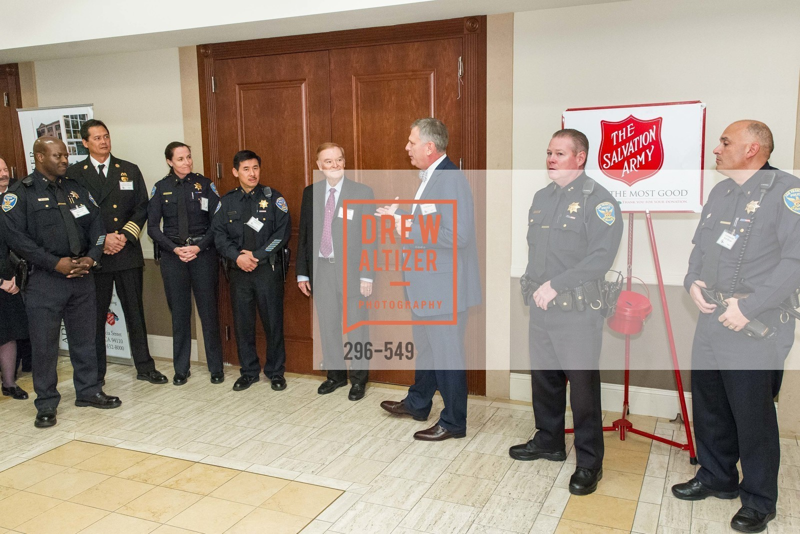 Mikail Ali, Raymond Guzman, Ann Mannix, Garret Tom, Frank Jordan, Ernst Bauer, Mike Redmond, Bob Moser, The Salvation Army's 12th Annual Holiday Luncheon Kettle Kickoff, The Bently Reserve. 301 Battery St, November 18th, 2015,Drew Altizer, Drew Altizer Photography, full-service agency, private events, San Francisco photographer, photographer california