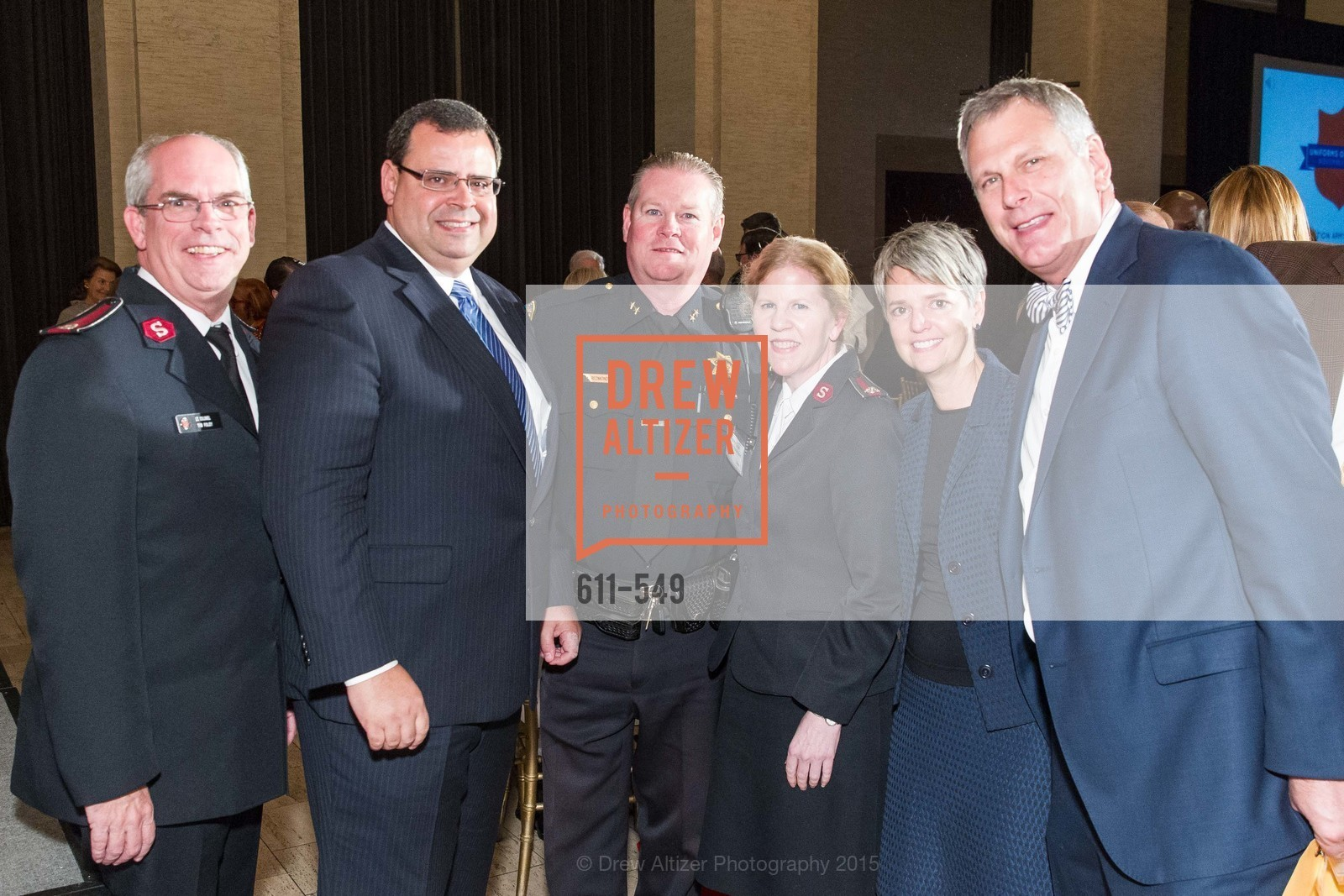 Lt. Col. Tim Foley, Brent Beabout, Mike Redmond, Lt. Col Cindy Foley, Julia Beabout, Ernst Bauer, The Salvation Army's 12th Annual Holiday Luncheon Kettle Kickoff, The Bently Reserve. 301 Battery St, November 18th, 2015