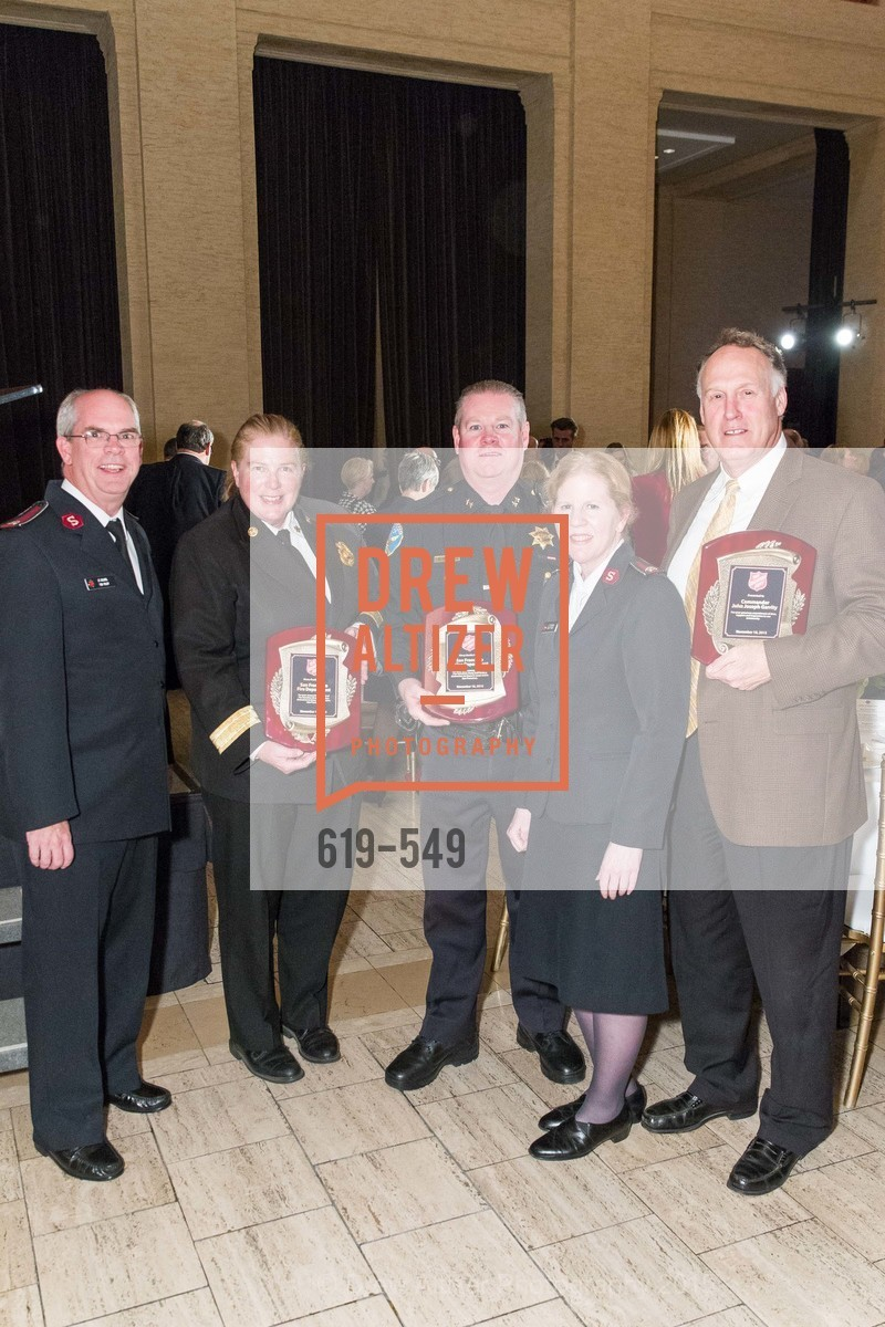 Lt. Col. Tim Foley, Joanne Hayes-White, Mike Redmond, Lt. Col Cindy Foley, Joe Garrity, The Salvation Army's 12th Annual Holiday Luncheon Kettle Kickoff, The Bently Reserve. 301 Battery St, November 18th, 2015,Drew Altizer, Drew Altizer Photography, full-service agency, private events, San Francisco photographer, photographer california
