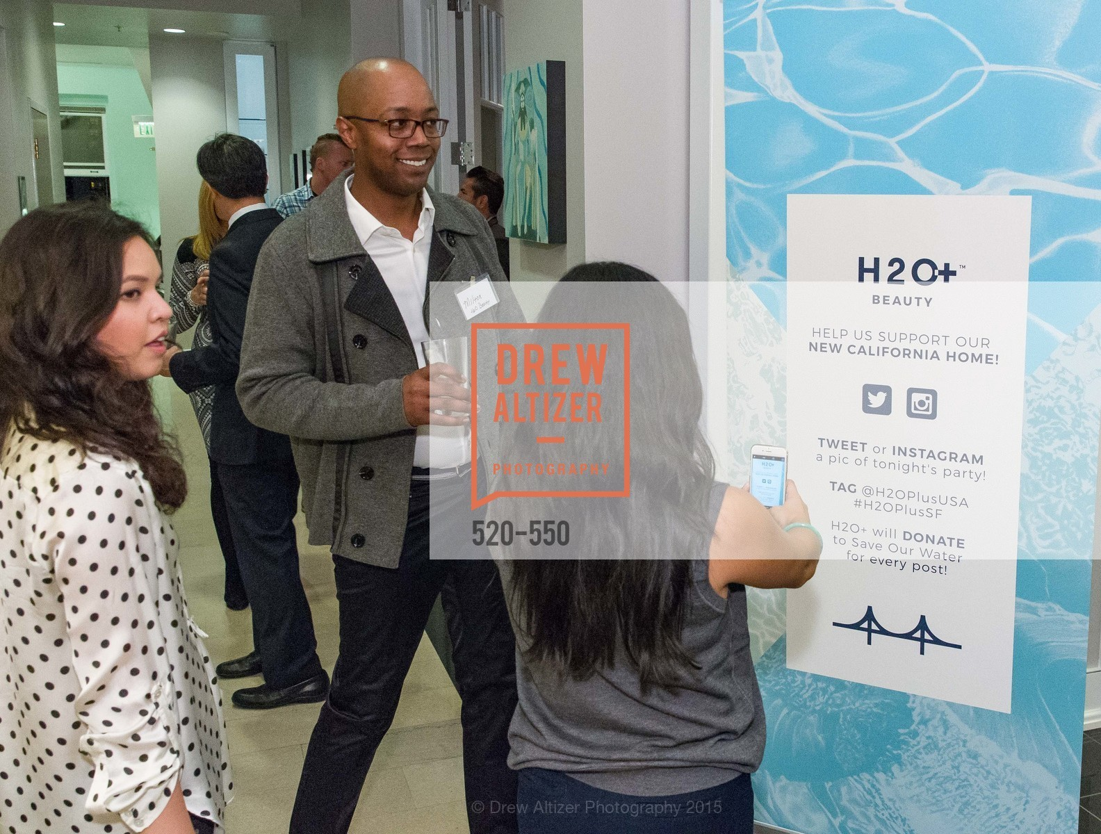 Melvin Dickenson, H2O+ World Headquarters Opening: A New Beauty for the Bay, 111 Sutter St. 111 Sutter Street, 22nd Floor, November 18th, 2015,Drew Altizer, Drew Altizer Photography, full-service agency, private events, San Francisco photographer, photographer california