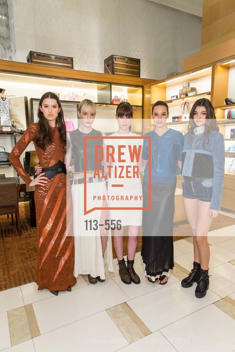 Dharma Stuart, Tess Tarasen, Eloise Dresser, Charlotte Bell, Haley Hekking, ELLE and Louis Vuitton Resort 2016, Louis Vuitton. 233 Geary Street, November 19th, 2015,Drew Altizer, Drew Altizer Photography, full-service agency, private events, San Francisco photographer, photographer california