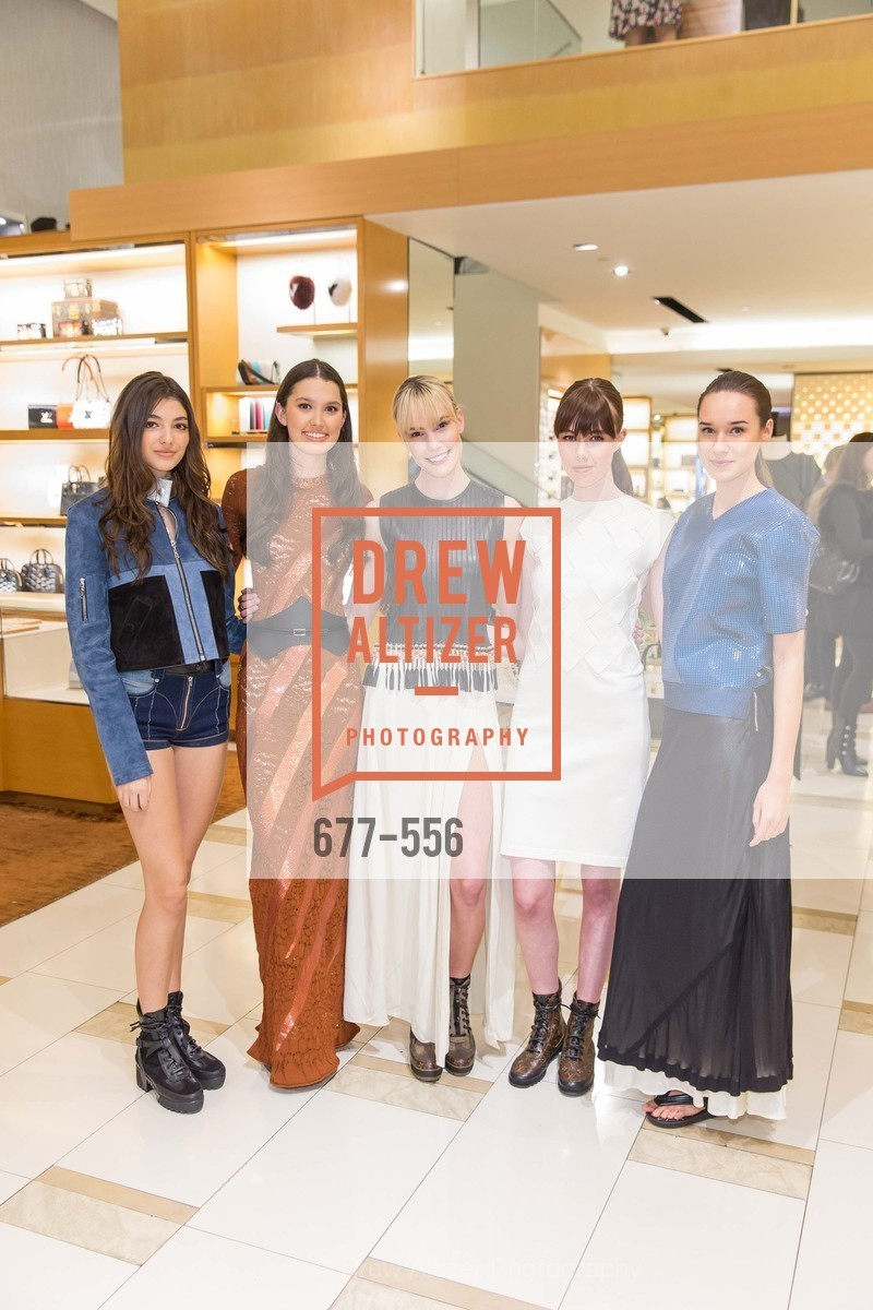 Haley Hekking, Dharma Stuart, Tess Tarasen, Eloise Dresser, Charlotte Bell, ELLE and Louis Vuitton Resort 2016, Louis Vuitton. 233 Geary Street, November 19th, 2015,Drew Altizer, Drew Altizer Photography, full-service agency, private events, San Francisco photographer, photographer california