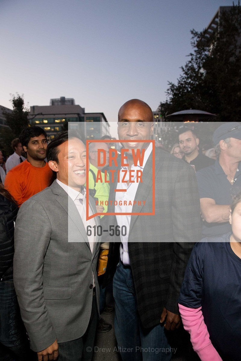 David Chiu, Barry Bonds, UCSF Medical Center HARD HAT WALK & LIGHTS ON FESTIVAL, US, September 6th, 2014,Drew Altizer, Drew Altizer Photography, full-service event agency, private events, San Francisco photographer, photographer California