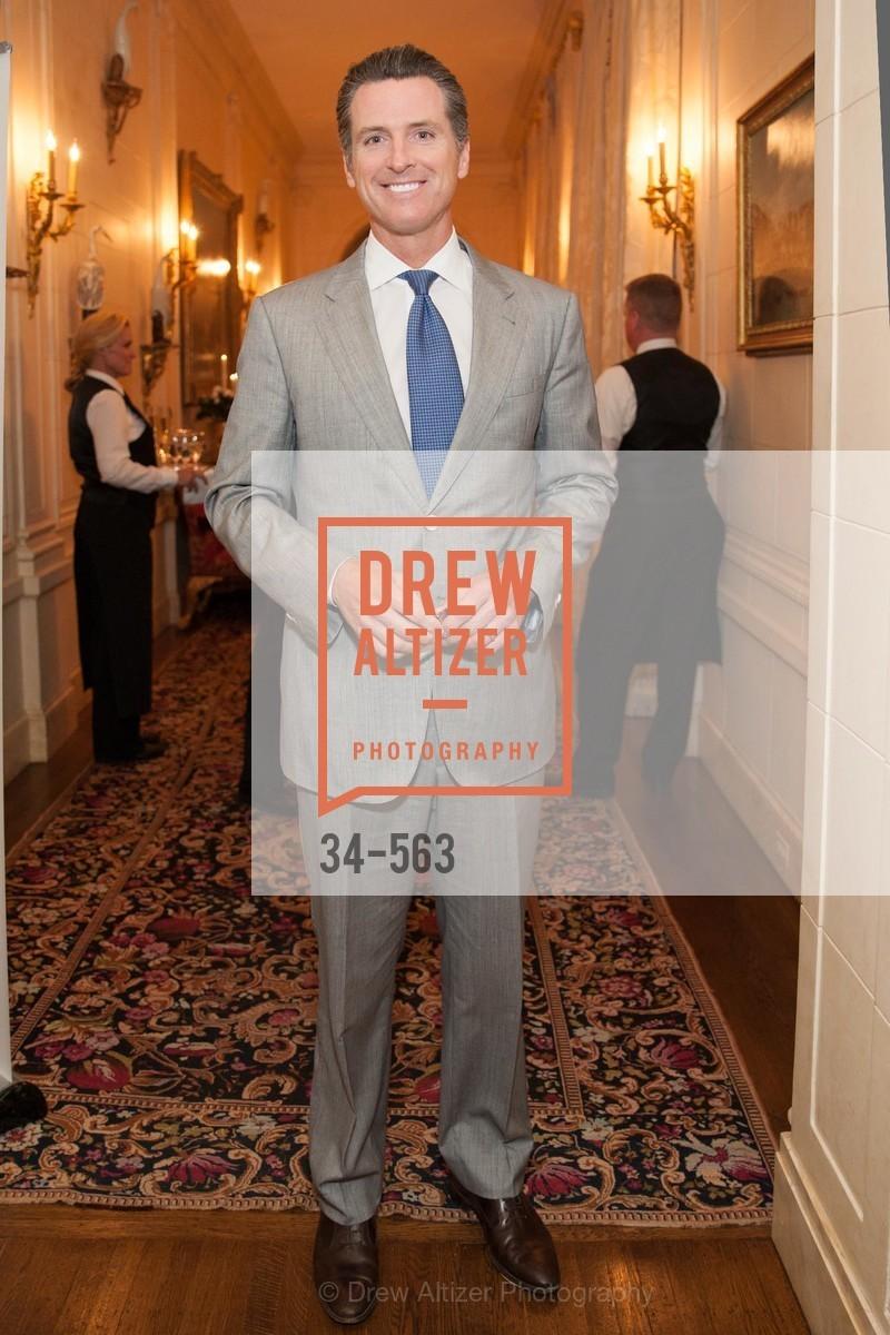 Honorable Gavin Newsom, HAMILTON FAMILY CENTER Top Donor Cocktail Reception, US, September 10th, 2014