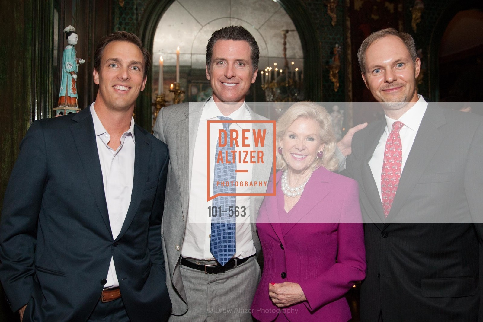Alec Perkins, Honorable Gavin Newsom, Dede Wilsey, Greg Maddox, HAMILTON FAMILY CENTER Top Donor Cocktail Reception, US, September 10th, 2014