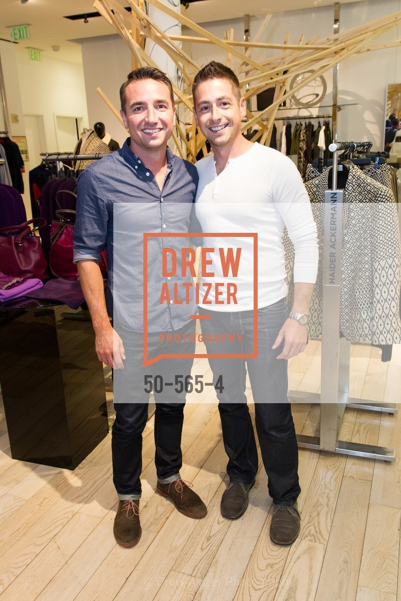 Nick Davidson, Andy Robb, GLAAD GALA Kick-Off Party Hosted by SAKS FIFTH AVENUE, Saks Fifth Avenue. 384 Post Street, September 12th, 2014,Drew Altizer, Drew Altizer Photography, full-service agency, private events, San Francisco photographer, photographer california