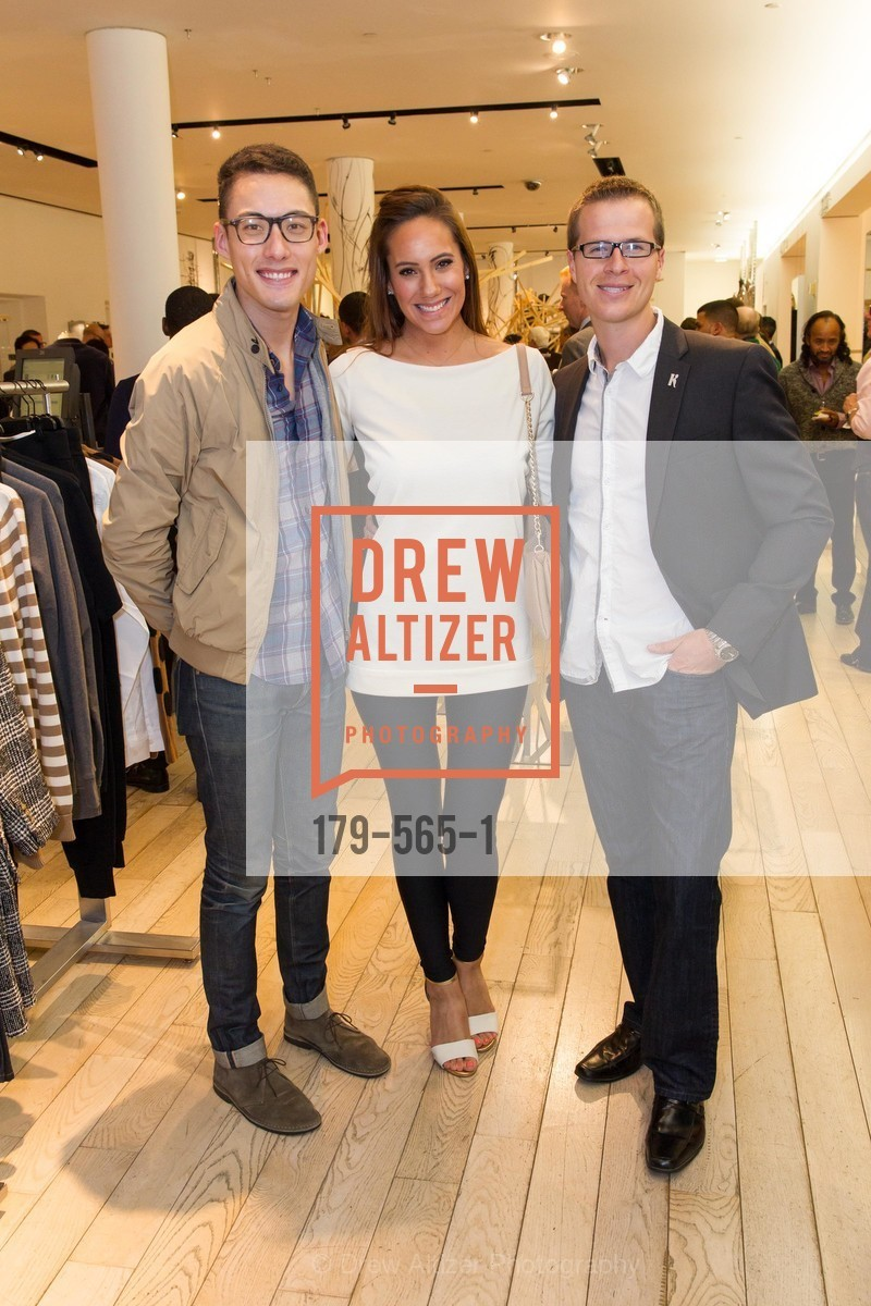 Kevin Huynh, Chisholm Linhard, Travis Tucker, SAKS FIFTH AVENUE Hosts The GLAAD GALA Kick-Off Party, US, September 12th, 2014,Drew Altizer, Drew Altizer Photography, full-service agency, private events, San Francisco photographer, photographer california