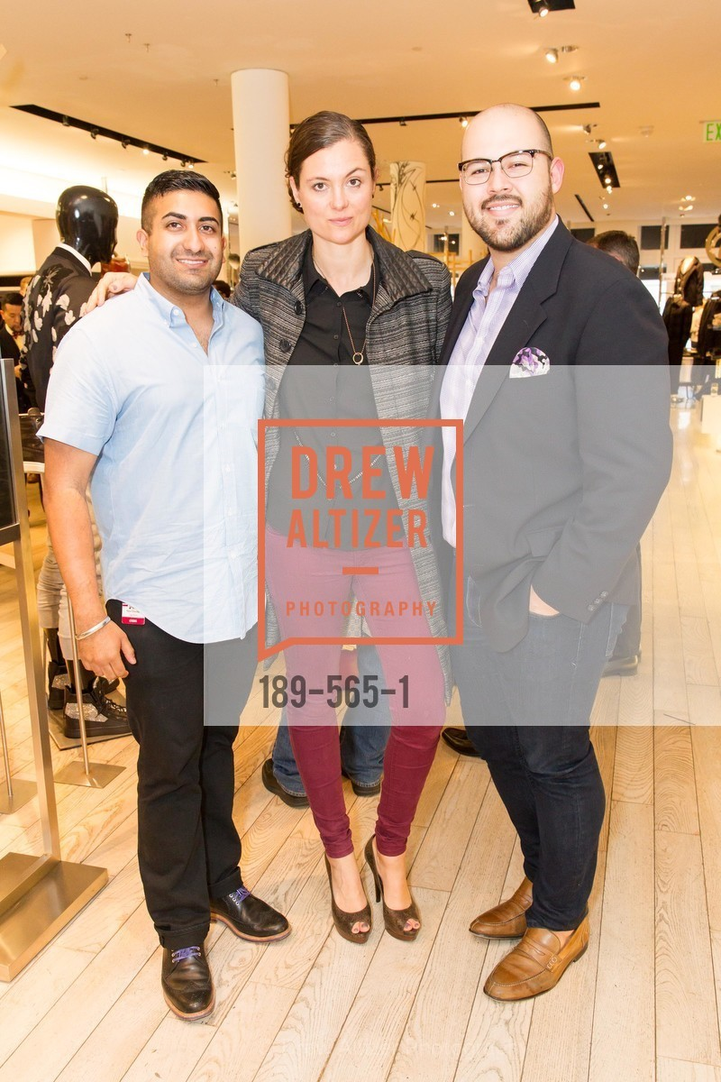 Rahul Chandhok, Lauren Dowling, Amhir Hidalgo, SAKS FIFTH AVENUE Hosts The GLAAD GALA Kick-Off Party, US, September 12th, 2014,Drew Altizer, Drew Altizer Photography, full-service agency, private events, San Francisco photographer, photographer california