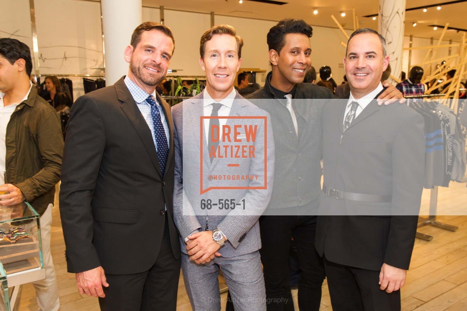 Ryan Williams, Eric Jennings, Emillio Mesa, Rober Arnold-Kraft, GLAAD GALA Kick-Off Party Hosted by SAKS FIFTH AVENUE, Saks Fifth Avenue. 384 Post Street, September 12th, 2014,Drew Altizer, Drew Altizer Photography, full-service agency, private events, San Francisco photographer, photographer california