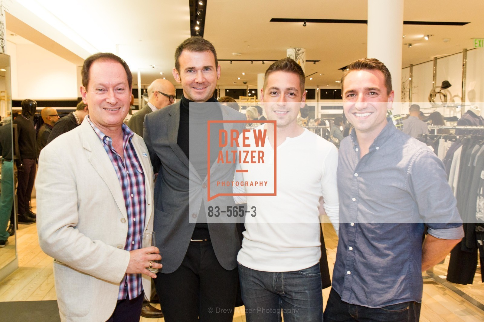Adam Sandel, Sean Howell, Andy Robb, Nick Davidson, GLAAD GALA Kick-Off Party Hosted by SAKS FIFTH AVENUE, Saks Fifth Avenue. 384 Post Street, September 12th, 2014,Drew Altizer, Drew Altizer Photography, full-service agency, private events, San Francisco photographer, photographer california