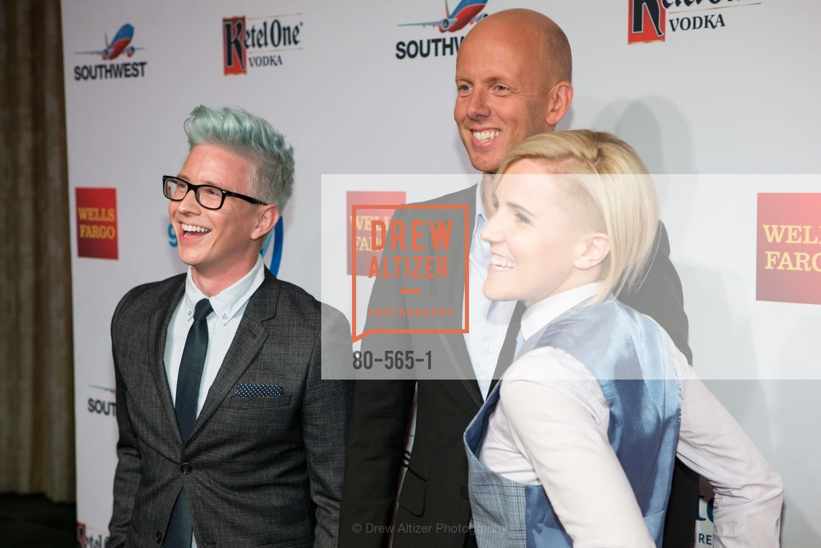 Tyler Oakley, Arjan Dijk, Hannah Hart, SAKS FIFTH AVENUE Hosts The GLAAD GALA Kick-Off Party, US, September 12th, 2014,Drew Altizer, Drew Altizer Photography, full-service agency, private events, San Francisco photographer, photographer california