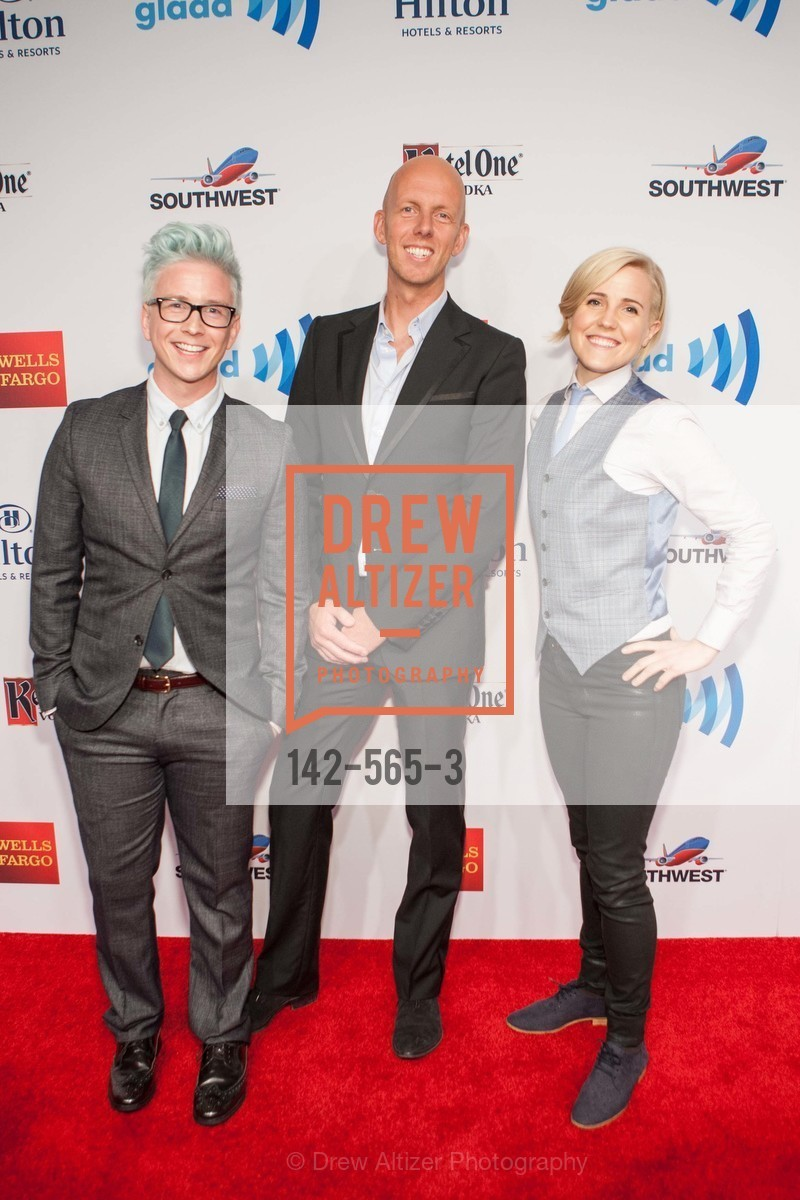 Tyler Oakley, Arjan Dijk, Hannah Hart, GLAAD GALA Kick-Off Party Hosted by SAKS FIFTH AVENUE, Saks Fifth Avenue. 384 Post Street, September 12th, 2014,Drew Altizer, Drew Altizer Photography, full-service agency, private events, San Francisco photographer, photographer california