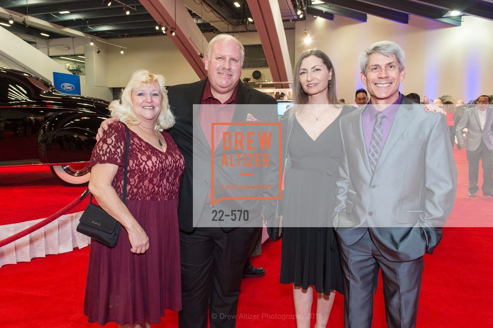 Connie Borgwardt, Paul Borgwardt, Lorraine Hbeem, Martin Hbeem, Academy of Art University Reception at the 58th Annual SF International Auto Show, Moscone Convention Center. 747 Howard St, November 20th, 2015,Drew Altizer, Drew Altizer Photography, full-service agency, private events, San Francisco photographer, photographer california