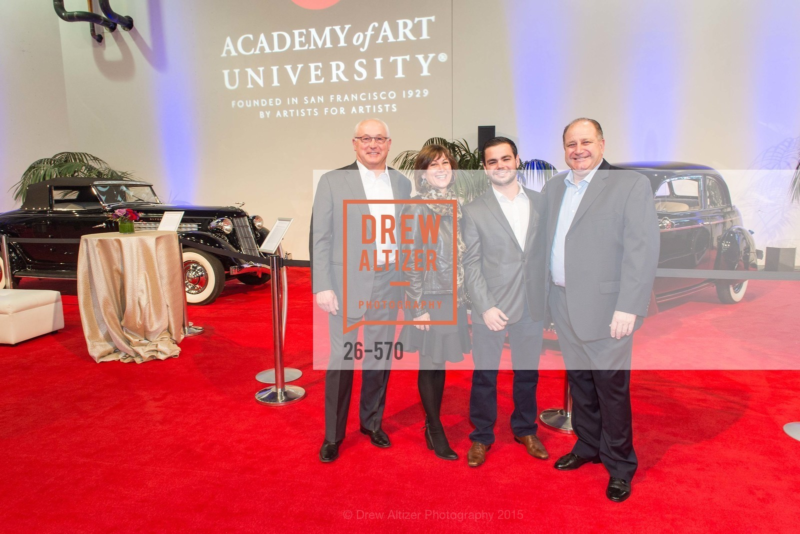 Mike Common, Nancy Common, Gino Ferrario, Bruce Ferrario, Academy of Art University Reception at the 58th Annual SF International Auto Show, Moscone Convention Center. 747 Howard St, November 20th, 2015,Drew Altizer, Drew Altizer Photography, full-service agency, private events, San Francisco photographer, photographer california