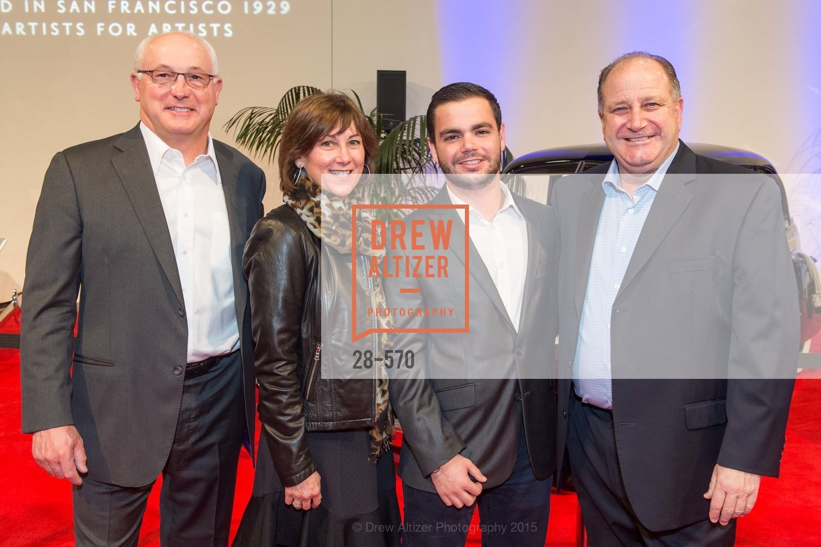 Mike Common, Nancy Common, Gino Ferrario, Bruce Ferrario, Academy of Art University Reception at the 58th Annual SF International Auto Show, Moscone Convention Center. 747 Howard St, November 20th, 2015,Drew Altizer, Drew Altizer Photography, full-service event agency, private events, San Francisco photographer, photographer California