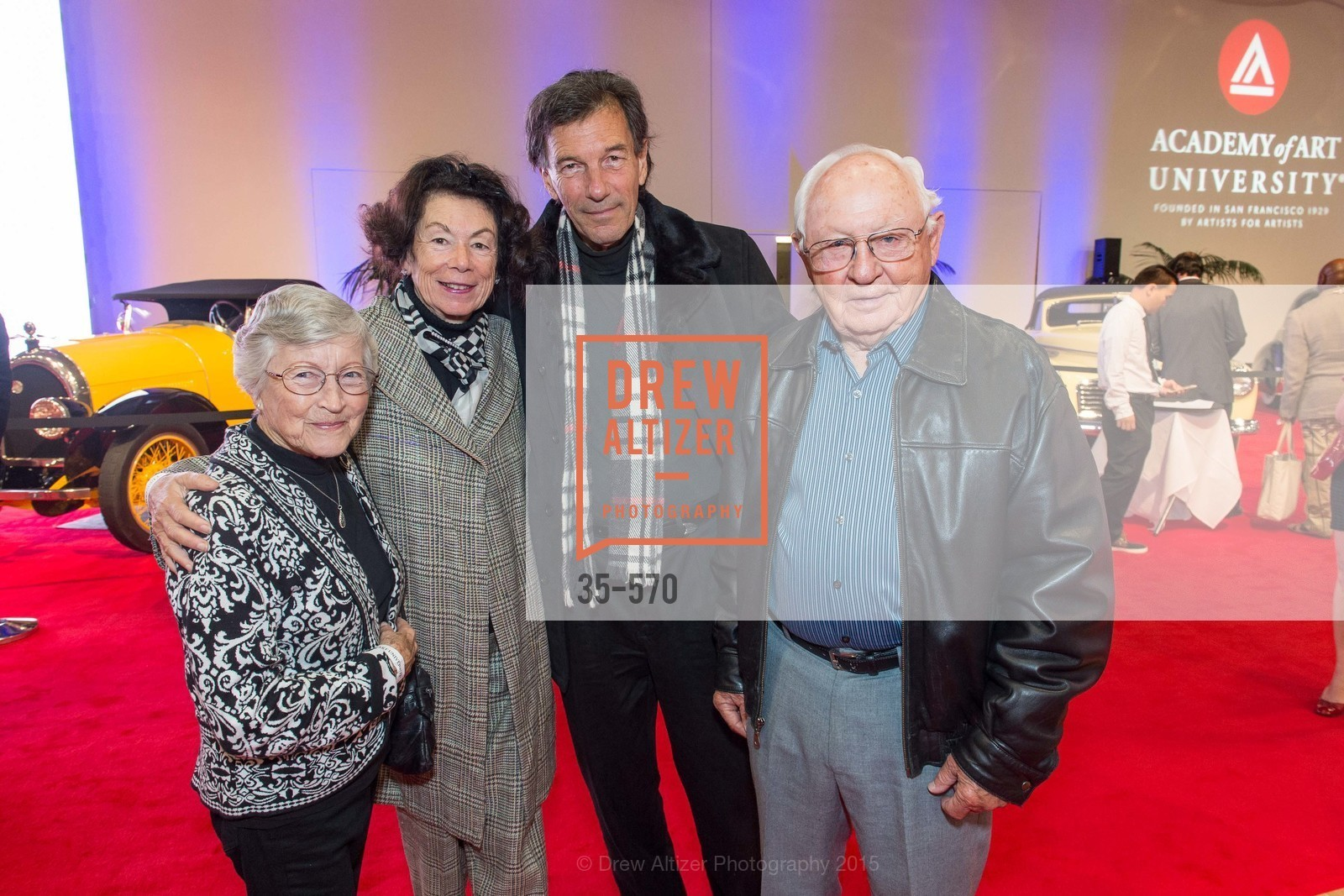 Ann Harrison, Mary Schneider, William Schneider, Chuck Harrison, Academy of Art University Reception at the 58th Annual SF International Auto Show, Moscone Convention Center. 747 Howard St, November 20th, 2015,Drew Altizer, Drew Altizer Photography, full-service agency, private events, San Francisco photographer, photographer california