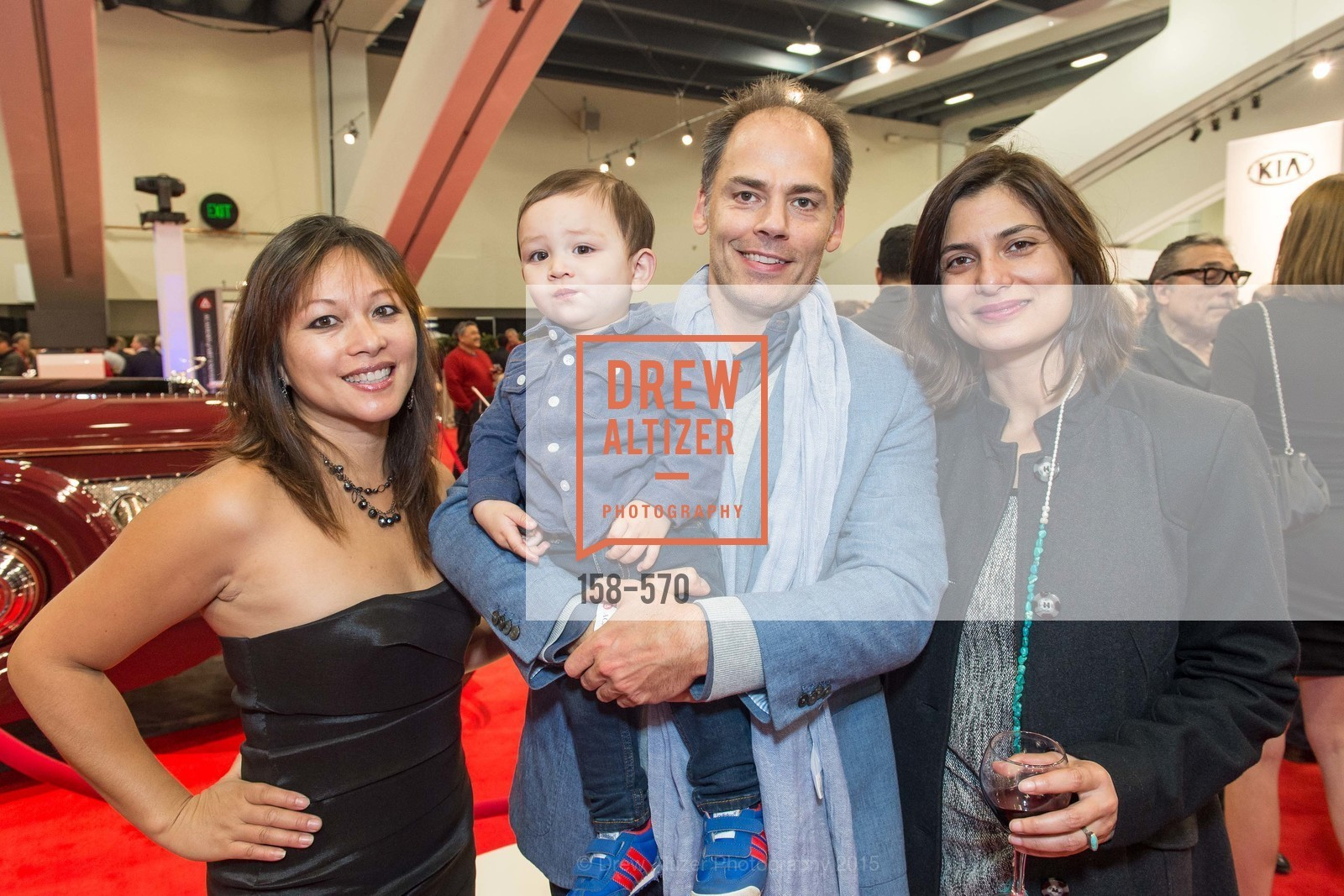 Nestle LaPena, Oliver Richner, Sanaz Richner, Luca Bortolami, Academy of Art University Reception at the 58th Annual SF International Auto Show, Moscone Convention Center. 747 Howard St, November 20th, 2015,Drew Altizer, Drew Altizer Photography, full-service agency, private events, San Francisco photographer, photographer california