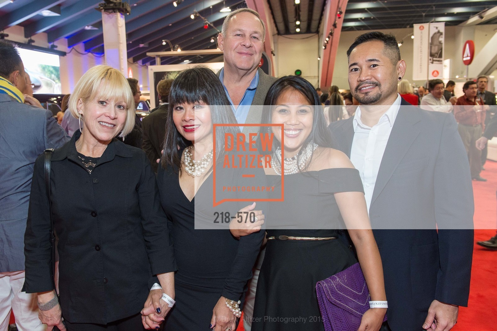 Lynn Jefferson, Rebecca Delgado, John Rottman, Dia Ates, Neil Hombrado, Academy of Art University Reception at the 58th Annual SF International Auto Show, Moscone Convention Center. 747 Howard St, November 20th, 2015,Drew Altizer, Drew Altizer Photography, full-service agency, private events, San Francisco photographer, photographer california