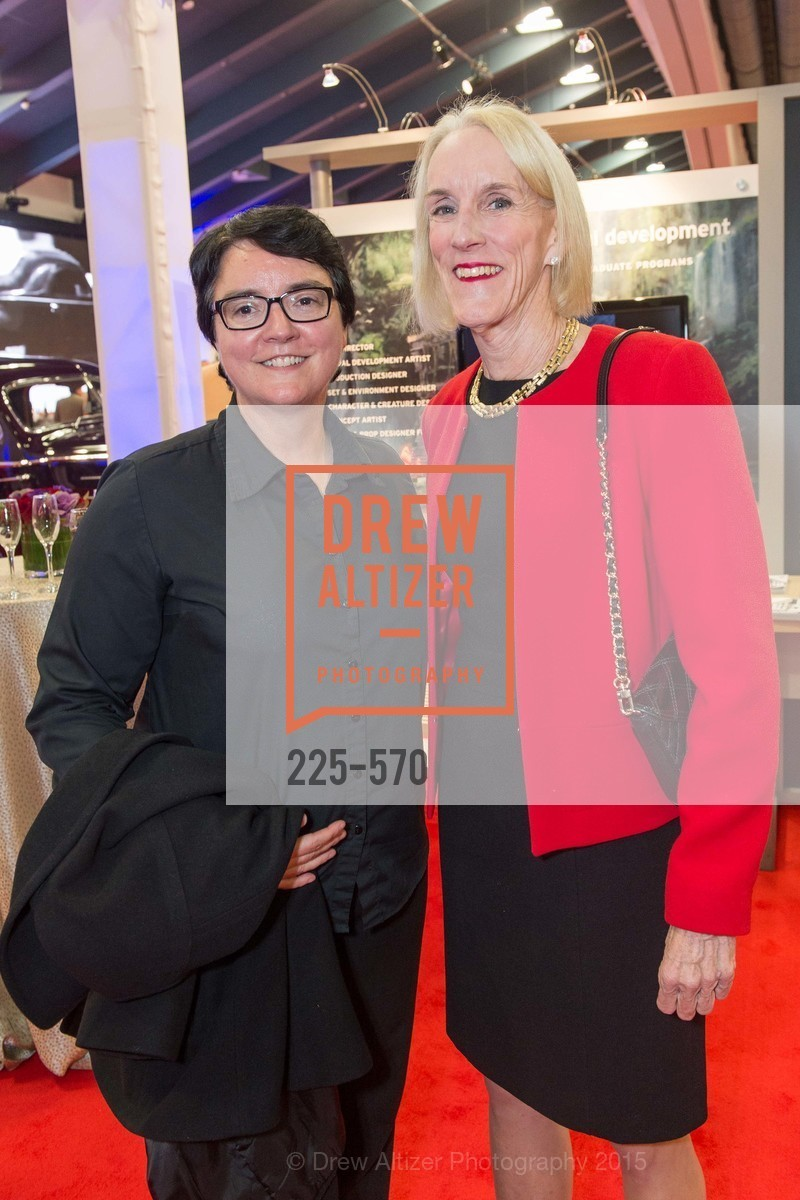 Cathy Corcoran, Nancy Houston, Academy of Art University Reception at the 58th Annual SF International Auto Show, Moscone Convention Center. 747 Howard St, November 20th, 2015