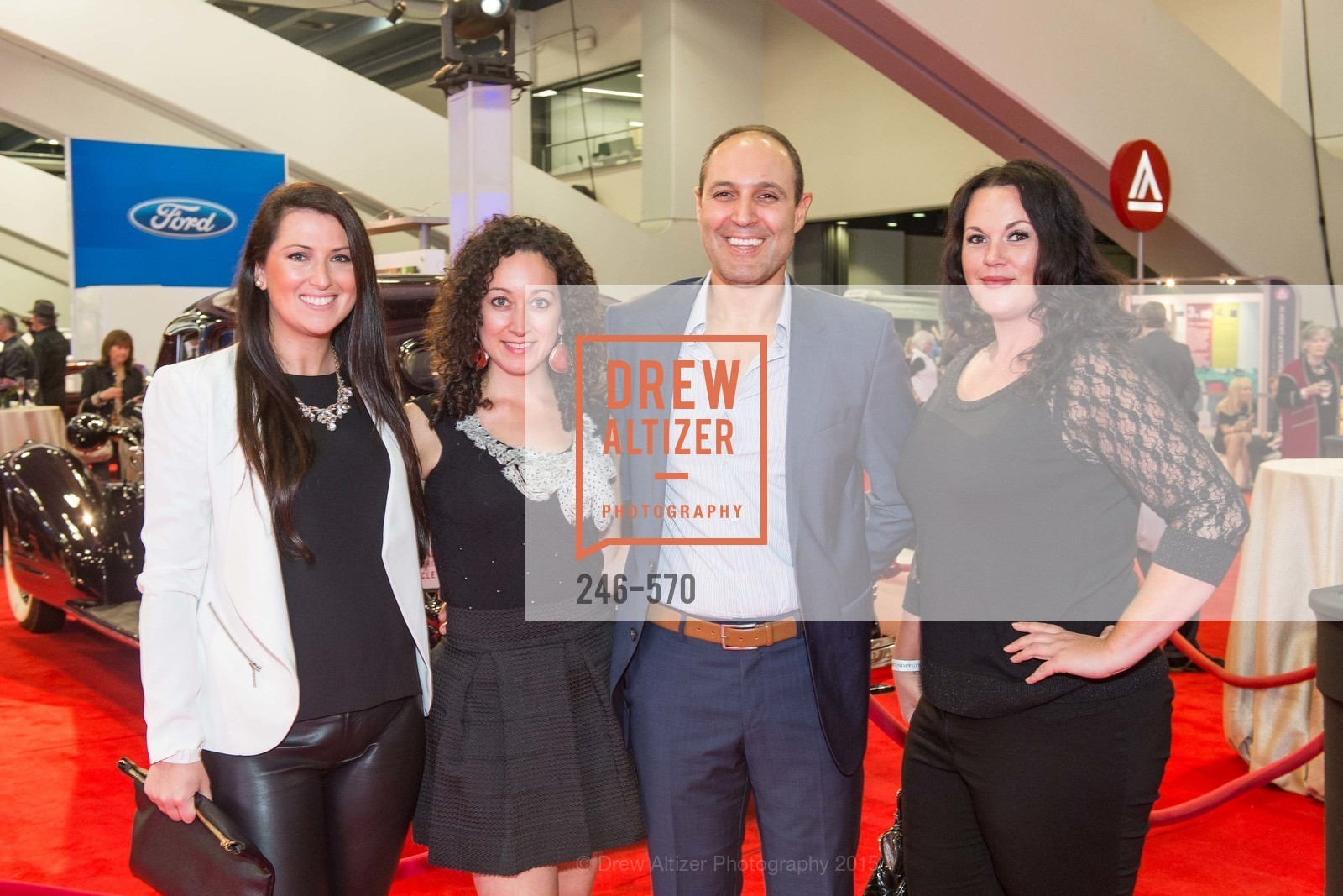 Kate McDonough, Alejandro Ruiz, Faysal Muri, Abby Denne, Academy of Art University Reception at the 58th Annual SF International Auto Show, Moscone Convention Center. 747 Howard St, November 20th, 2015,Drew Altizer, Drew Altizer Photography, full-service agency, private events, San Francisco photographer, photographer california