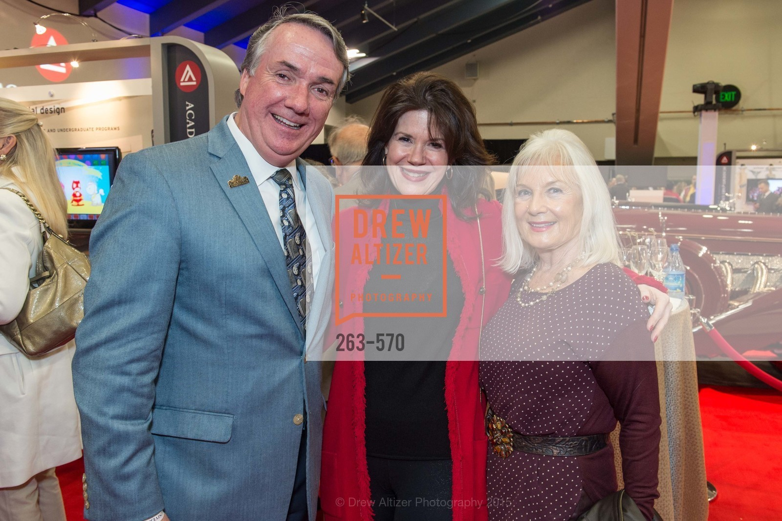 Tim McGrane, Elaine Mellis, Arlene Inch, Academy of Art University Reception at the 58th Annual SF International Auto Show, Moscone Convention Center. 747 Howard St, November 20th, 2015,Drew Altizer, Drew Altizer Photography, full-service agency, private events, San Francisco photographer, photographer california